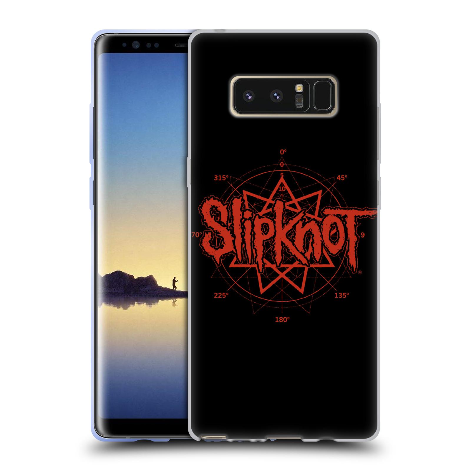 HEAD CASE silikonový obal na mobil Samsung Galaxy Note 8 hudební skupina Slipknot logo