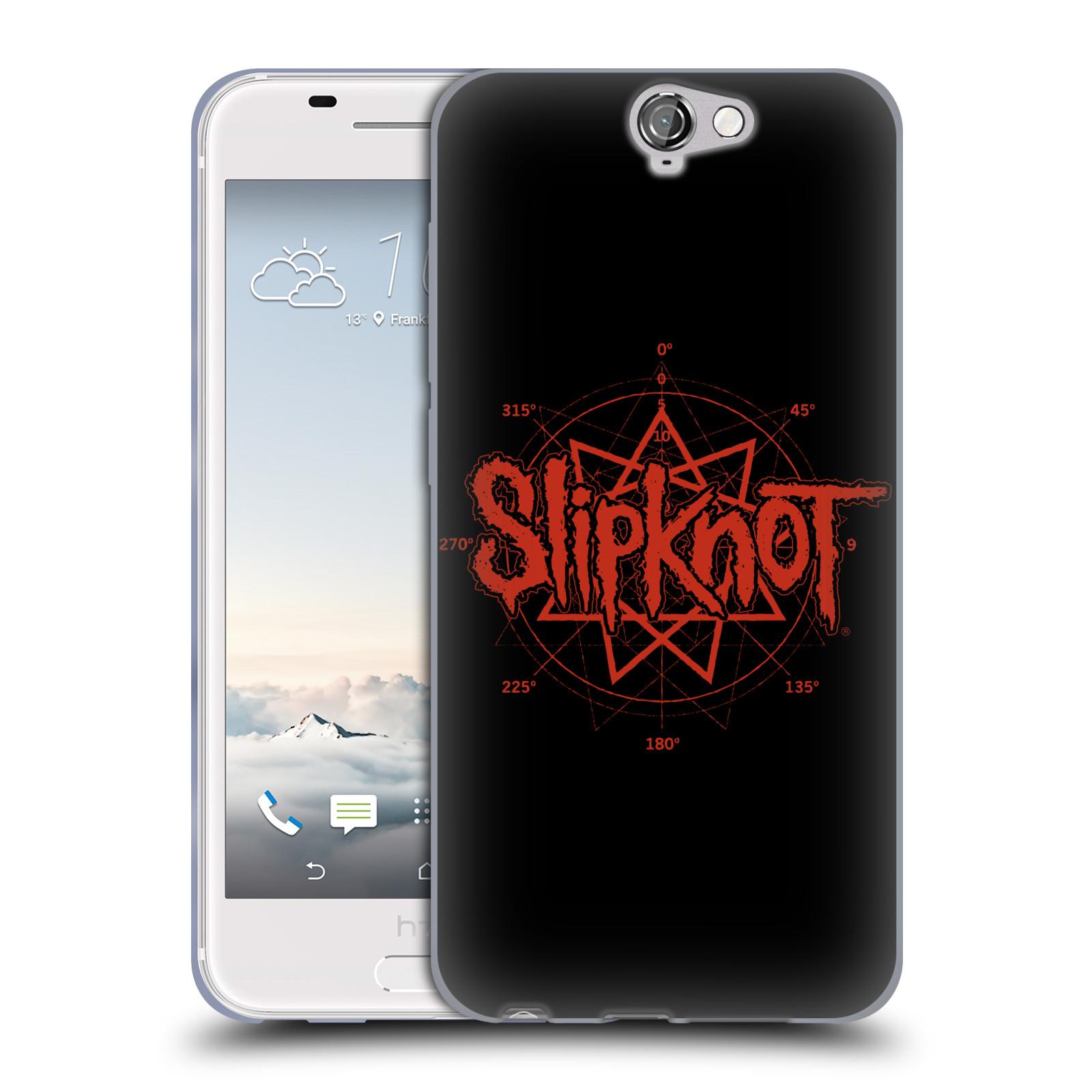 HEAD CASE silikonový obal na mobil HTC One A9 hudební skupina Slipknot logo