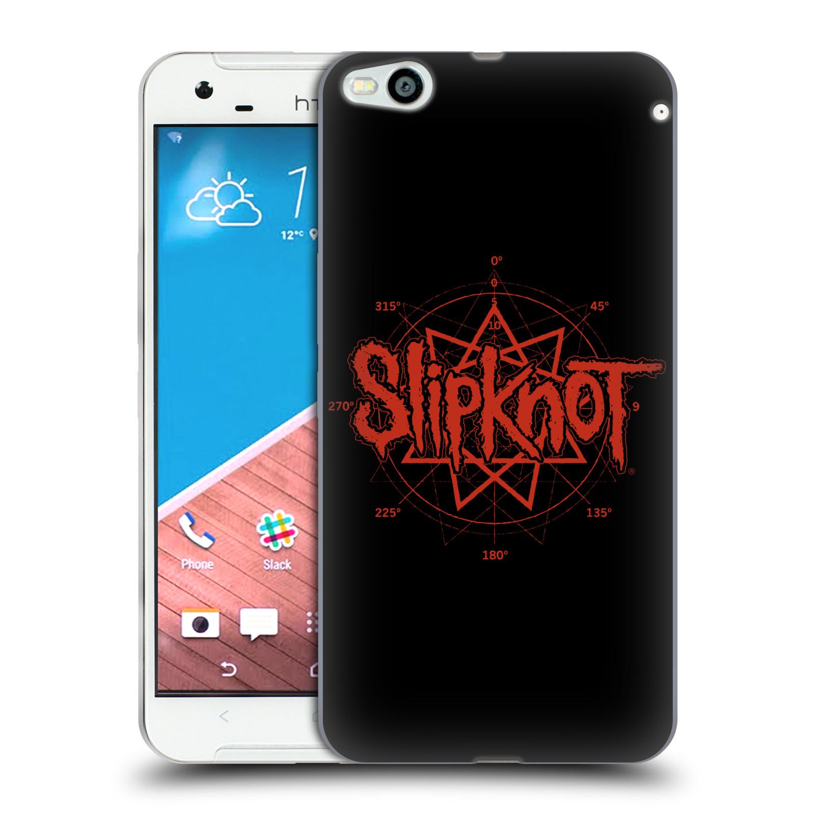 HEAD CASE silikonový obal na mobil HTC One X9 hudební skupina Slipknot logo