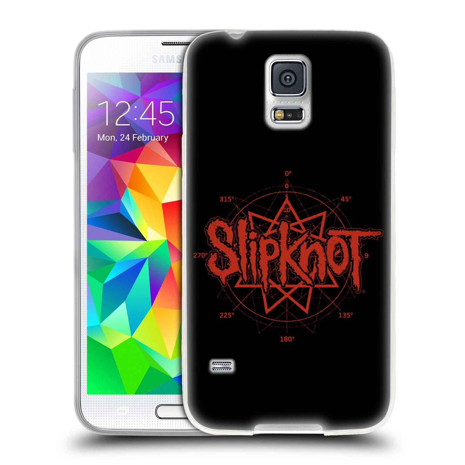 HEAD CASE silikonový obal na mobil Samsung Galaxy S5 hudební skupina Slipknot logo