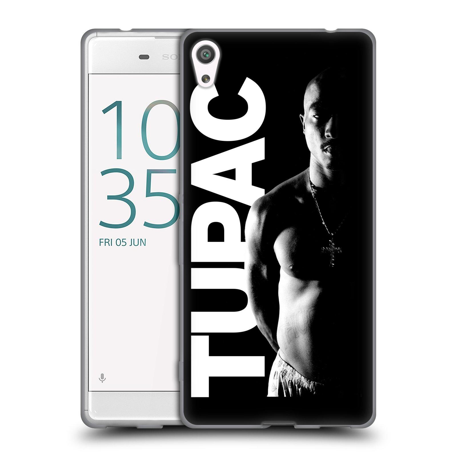 HEAD CASE silikonový obal na mobil Sony Xperia XA ULTRA Zpěvák rapper Tupac Shakur 2Pac bílý nadpis