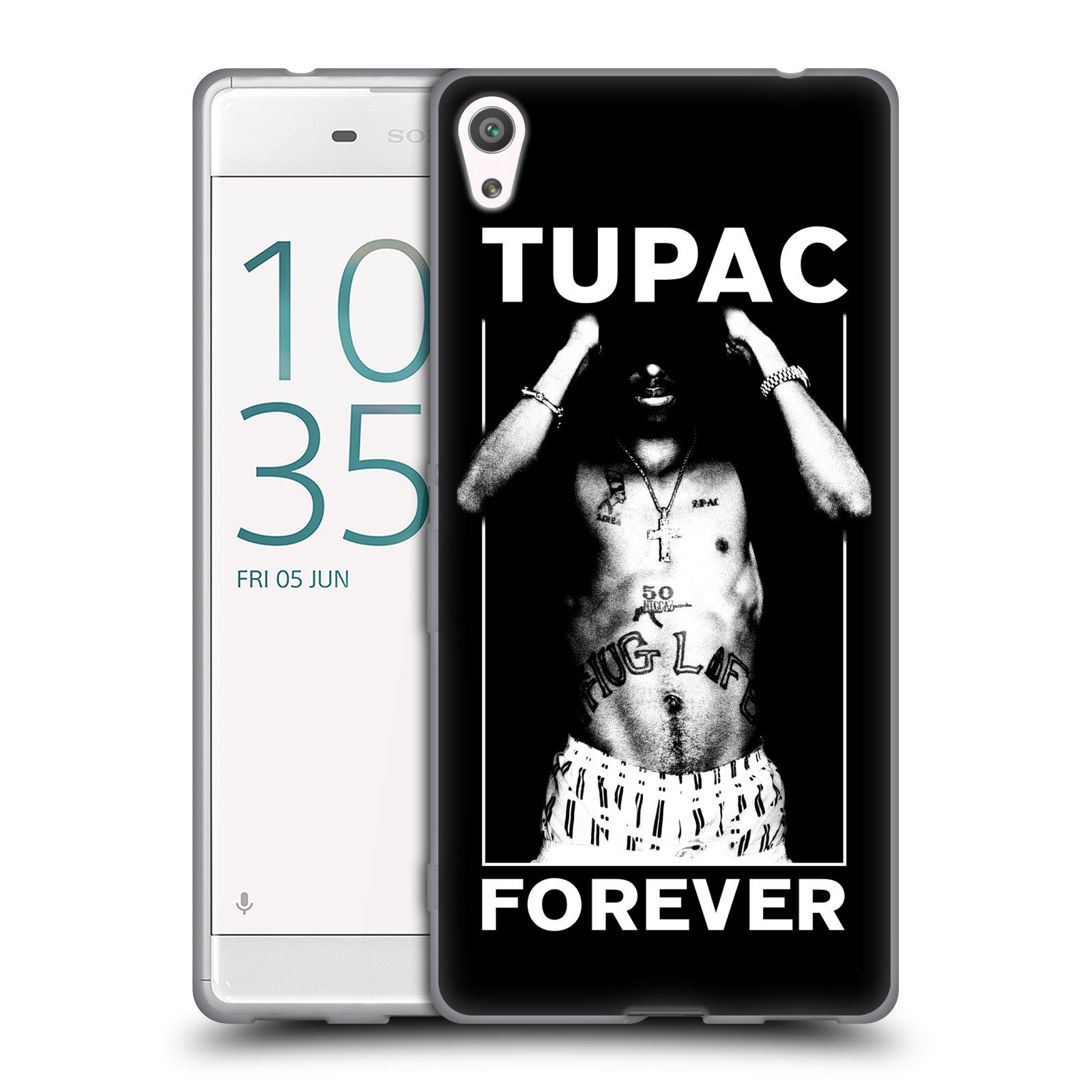HEAD CASE silikonový obal na mobil Sony Xperia XA ULTRA Zpěvák rapper Tupac Shakur 2Pac bílý popisek FOREVER