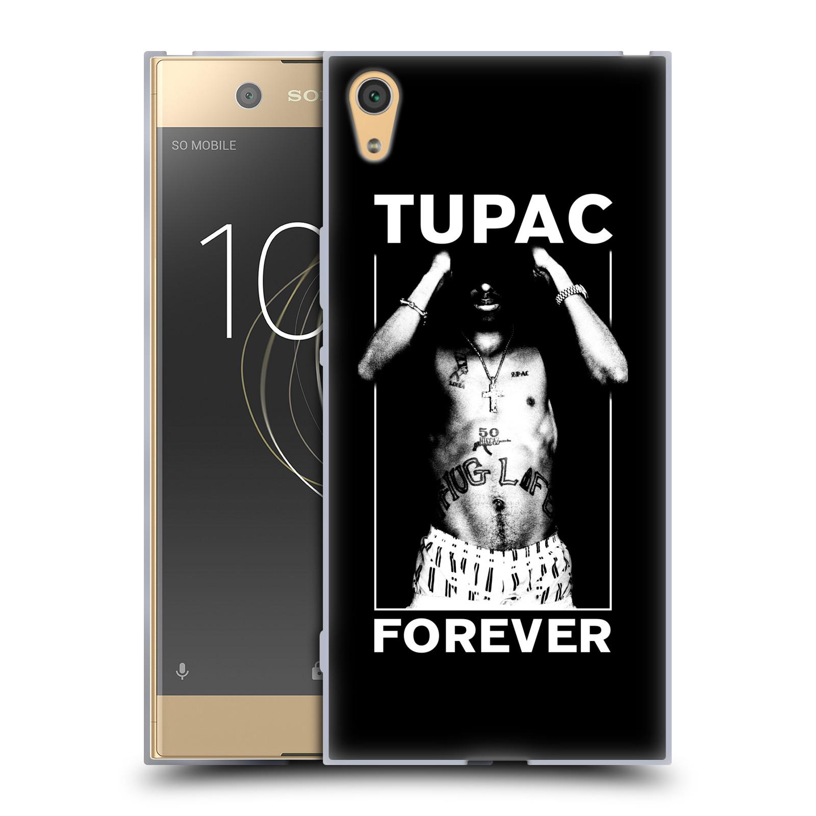 HEAD CASE silikonový obal na mobil Sony Xperia XA1 ULTRA Zpěvák rapper Tupac Shakur 2Pac bílý popisek FOREVER