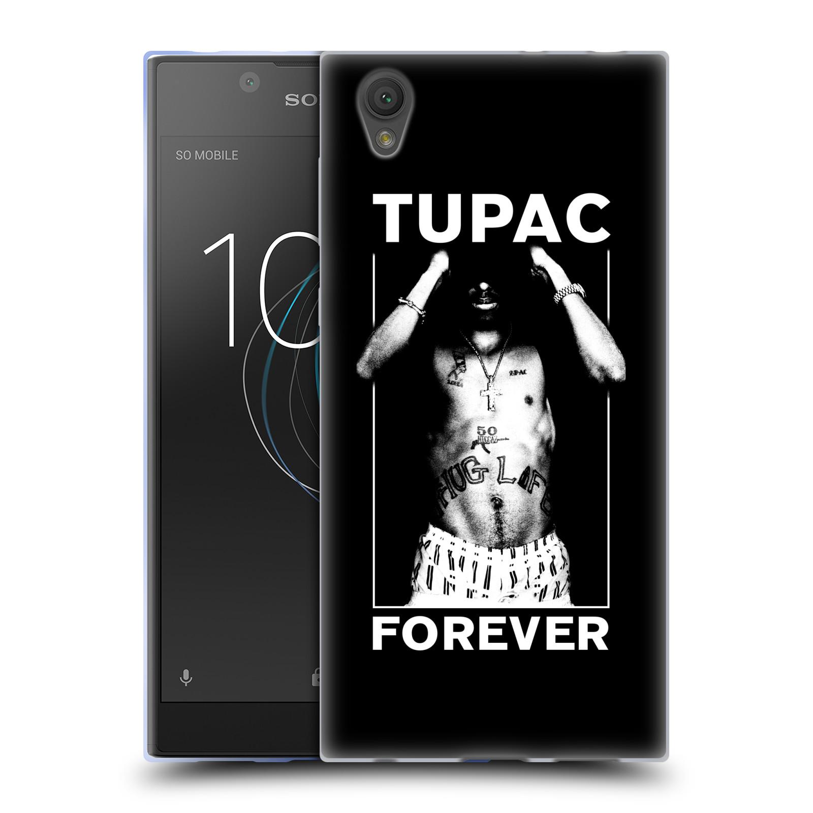HEAD CASE silikonový obal na mobil Sony Xperia L1 Zpěvák rapper Tupac Shakur 2Pac bílý popisek FOREVER