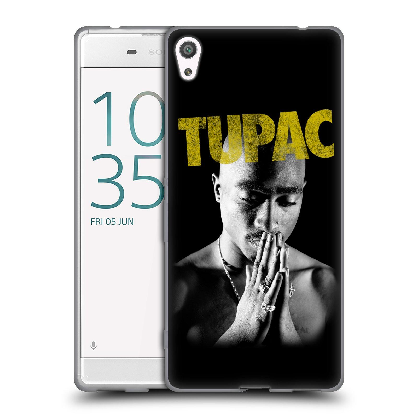 HEAD CASE silikonový obal na mobil Sony Xperia XA ULTRA Zpěvák rapper Tupac Shakur 2Pac zlatý nadpis