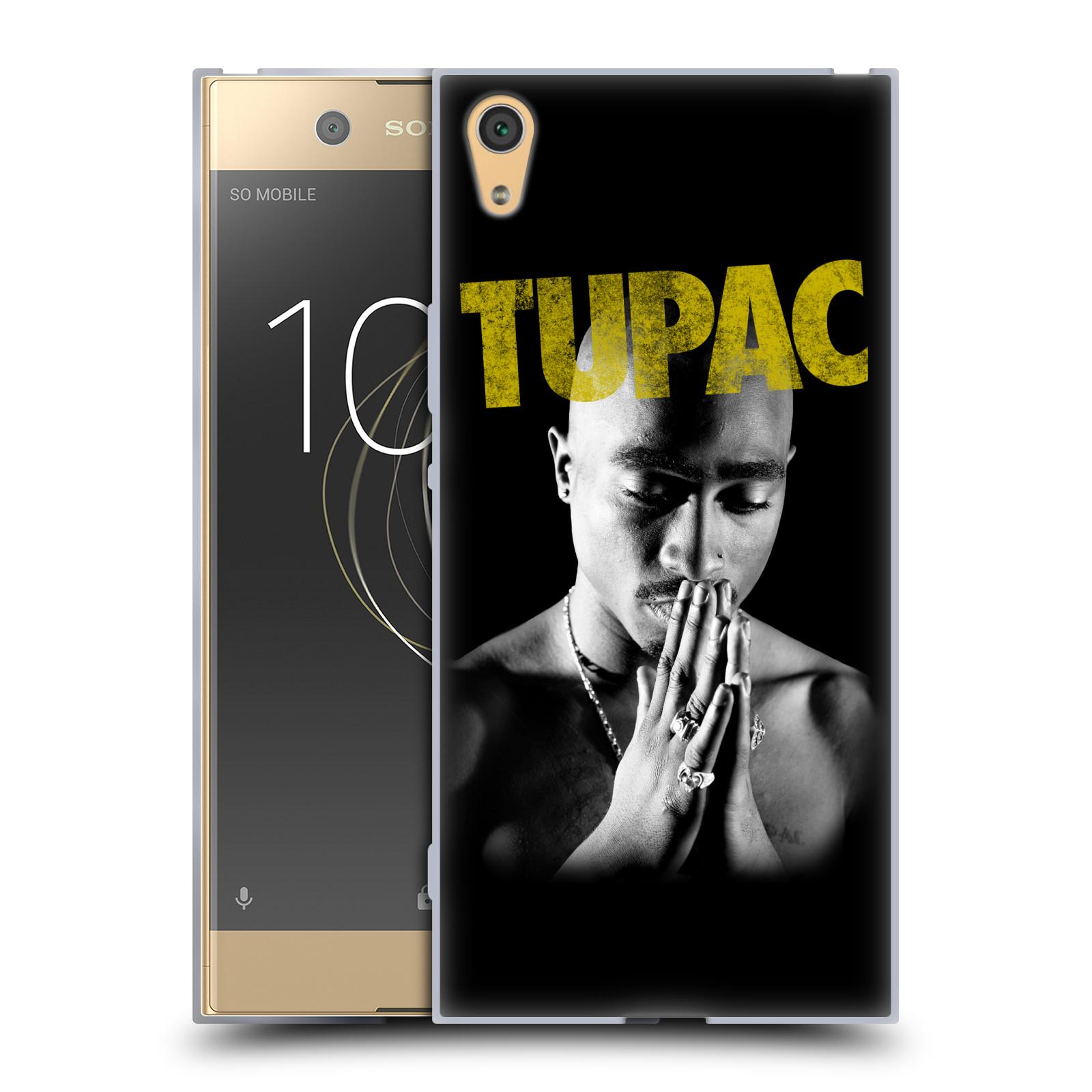 HEAD CASE silikonový obal na mobil Sony Xperia XA1 ULTRA Zpěvák rapper Tupac Shakur 2Pac zlatý nadpis