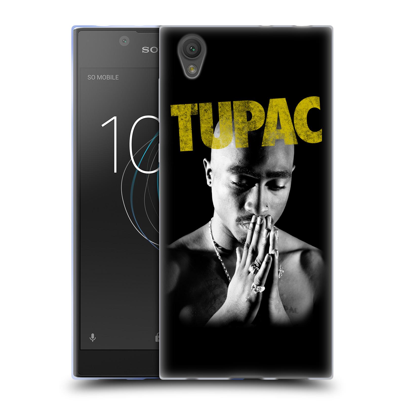 HEAD CASE silikonový obal na mobil Sony Xperia L1 Zpěvák rapper Tupac Shakur 2Pac zlatý nadpis