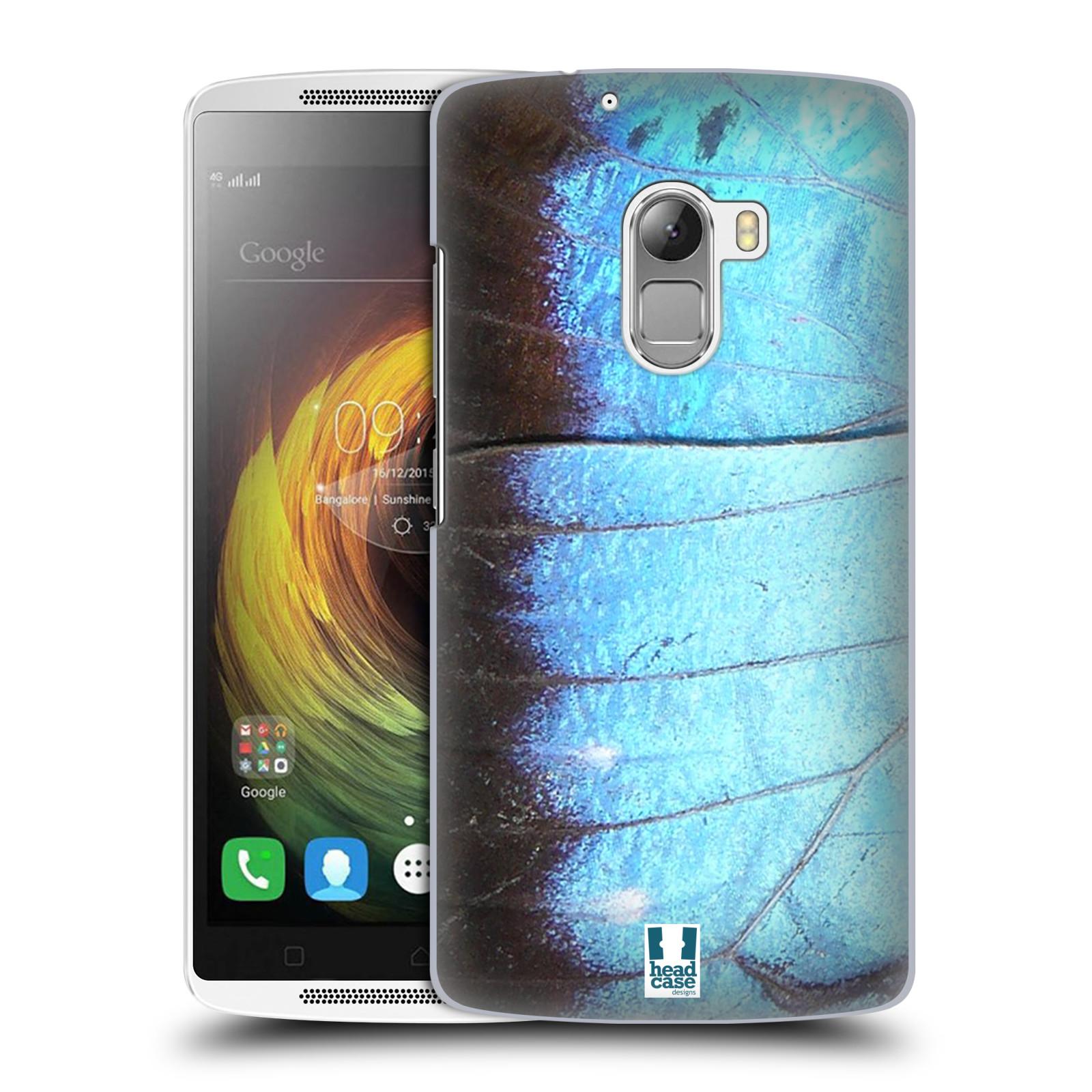 HEAD CASE pevný plastový obal na mobil LENOVO A7010 / A7010 DUAL / K4 Note / Vibe X3 lite vzor motýl křídla modrá