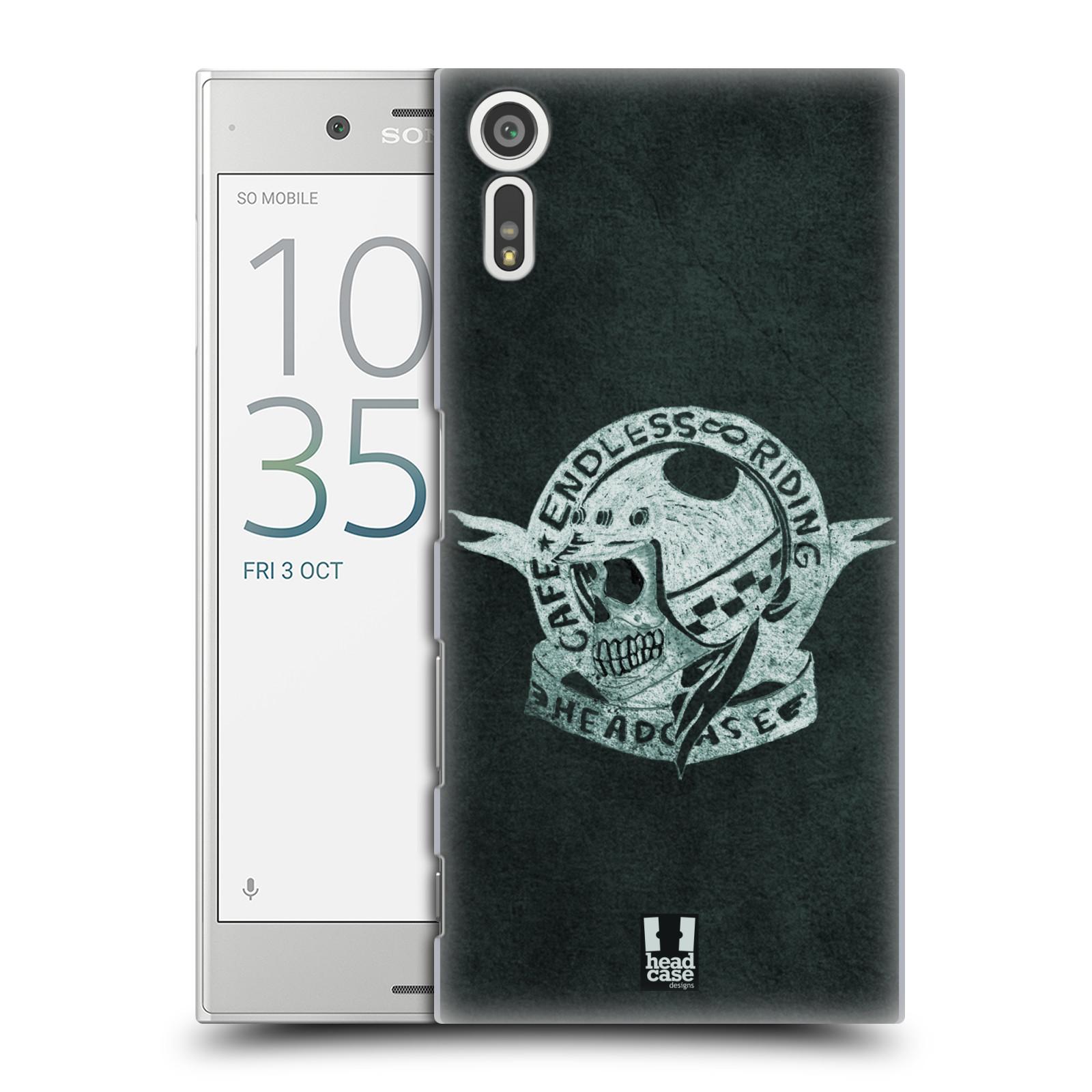 HEAD CASE plastový obal na mobil Sony Xperia XZ Motorkáři Cafe Racer nekonečné závodění