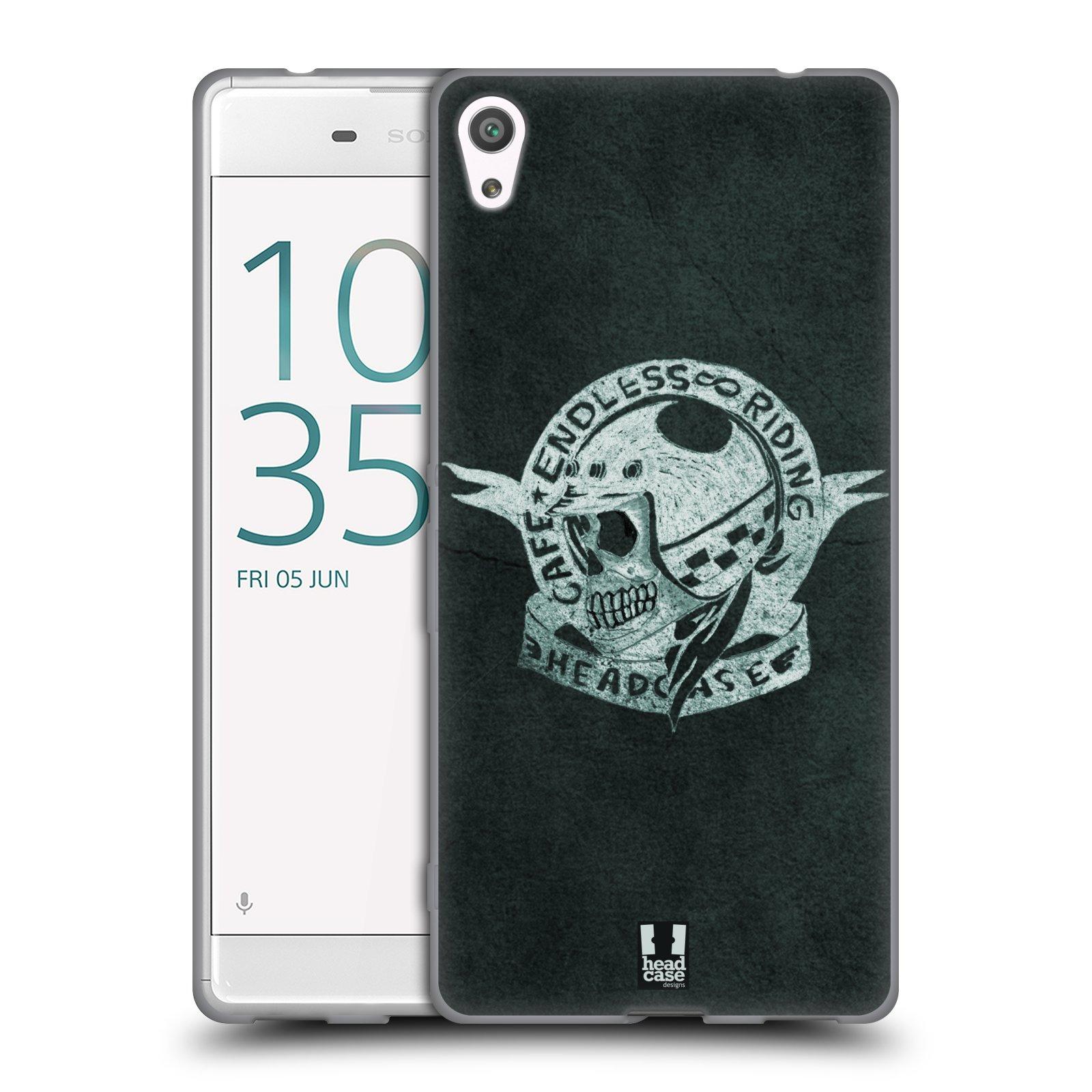 HEAD CASE silikonový obal na mobil Sony Xperia XA ULTRA Motorkáři Cafe Racer nekonečné závodění