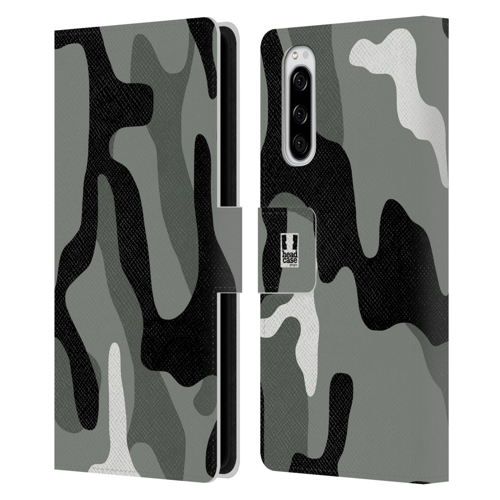 Pouzdro na mobil Sony Xperia 5 kamufláž šedá barva