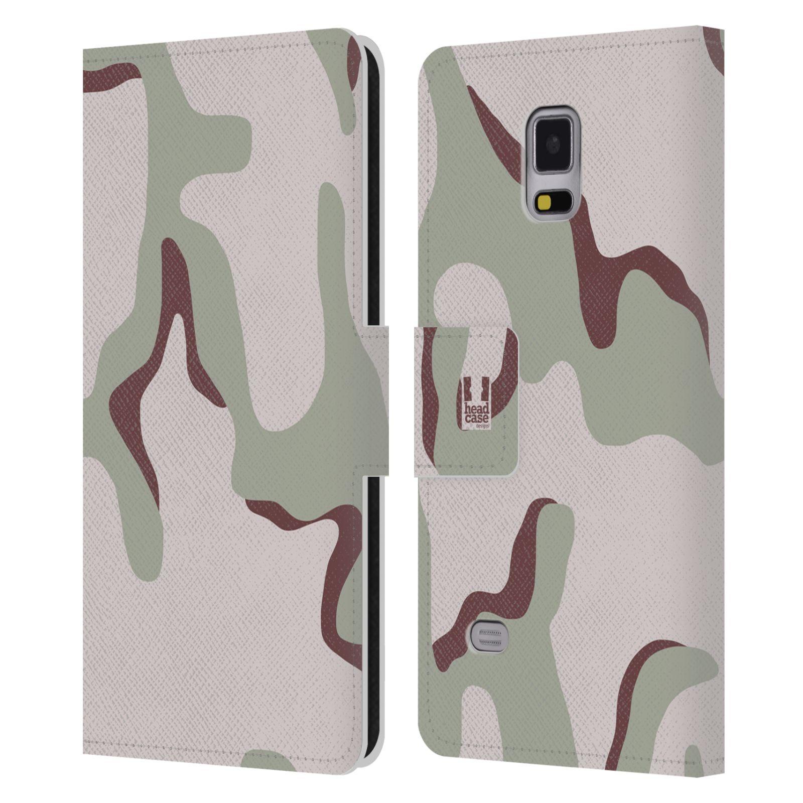 HEAD CASE Flipové pouzdro pro mobil Samsung Galaxy Note 4 kamufláž poušť tři barvy