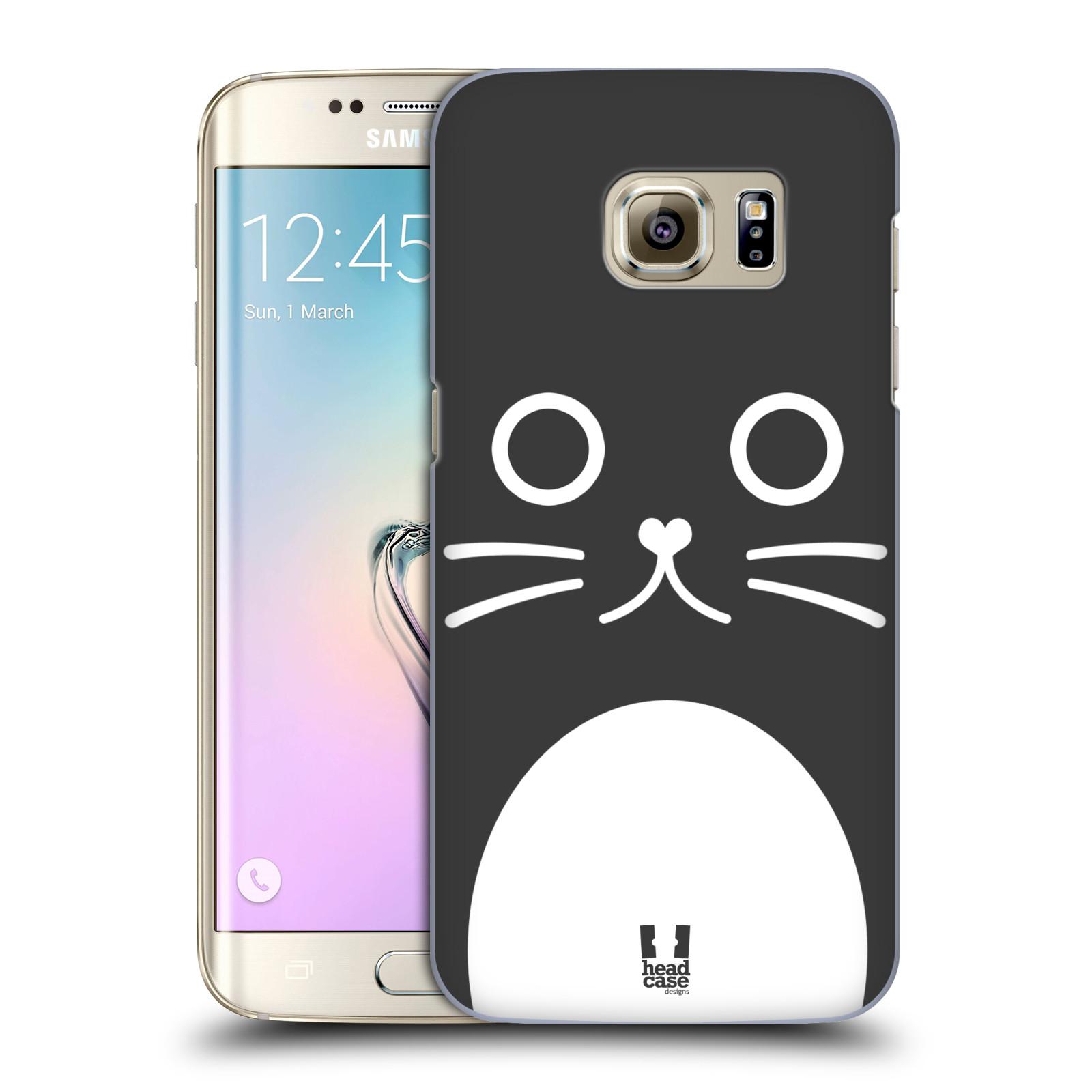 HEAD CASE plastový obal na mobil SAMSUNG GALAXY S7 EDGE vzor Cartoon Karikatura kreslená zvířátka kočka