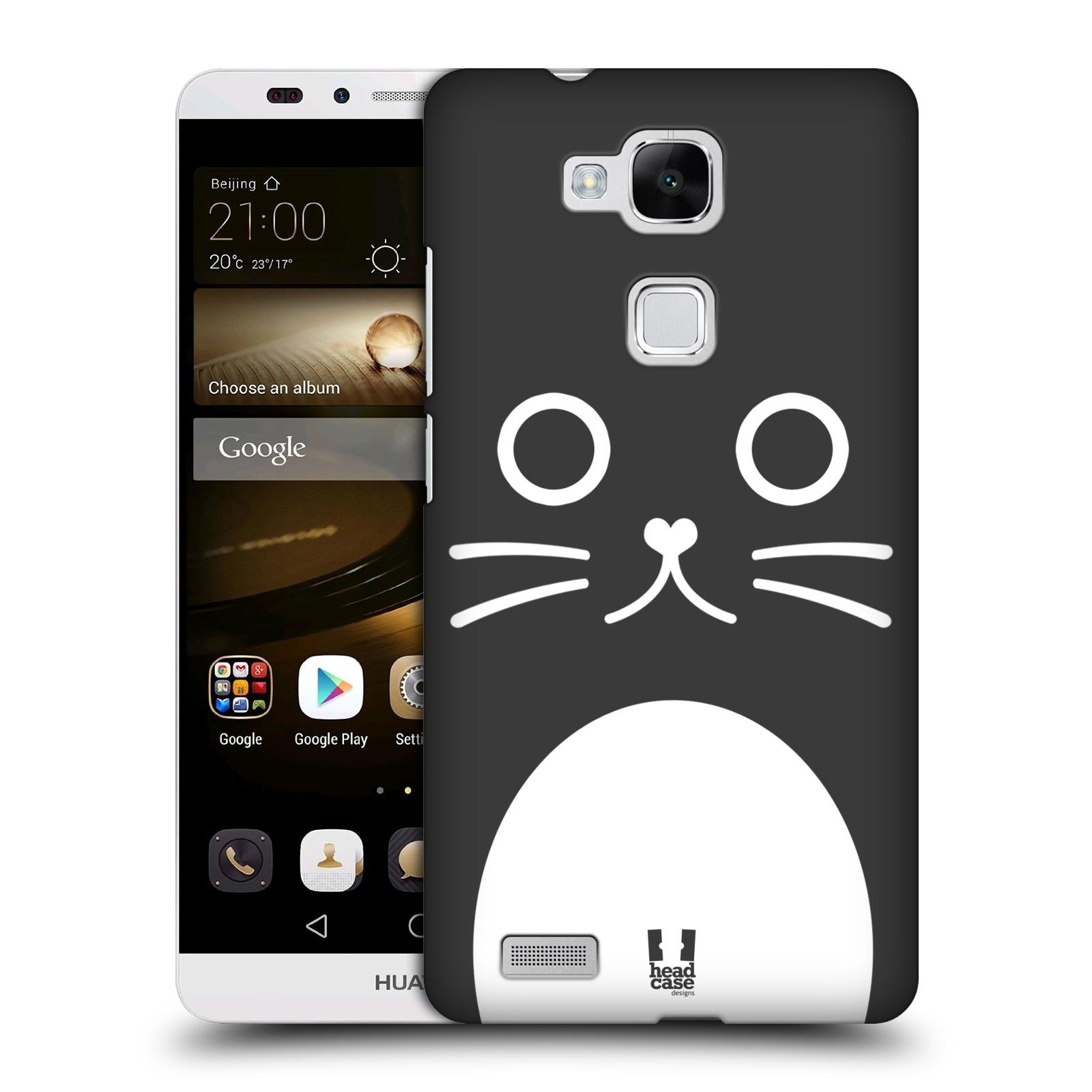 HEAD CASE plastový obal na mobil Huawei Mate 7 vzor Cartoon Karikatura kreslená zvířátka kočka