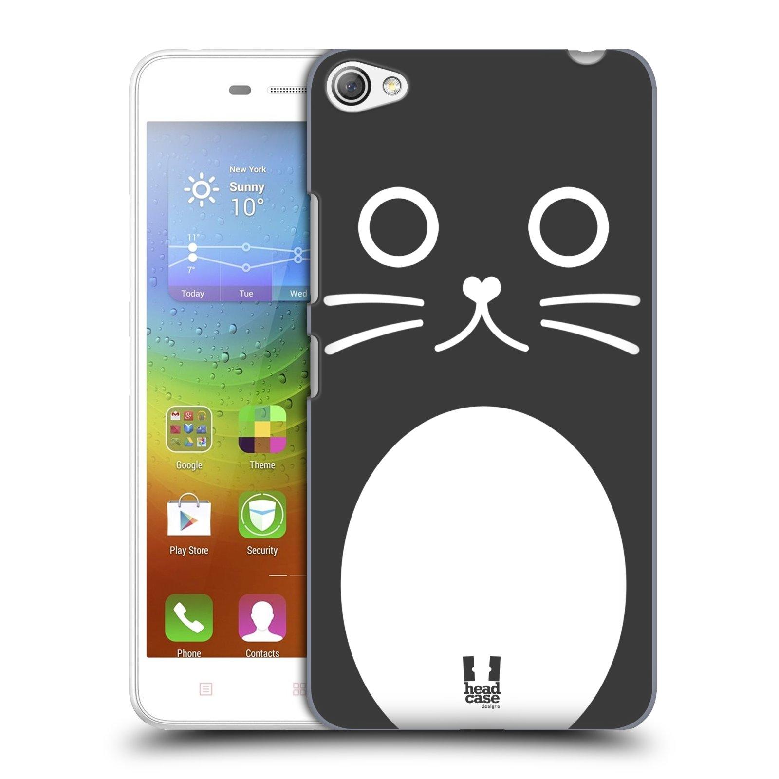 HEAD CASE pevný plastový obal na mobil LENOVO S60 / LENOVO S60 DUAL SIM vzor Cartoon Karikatura kreslená zvířátka kočka