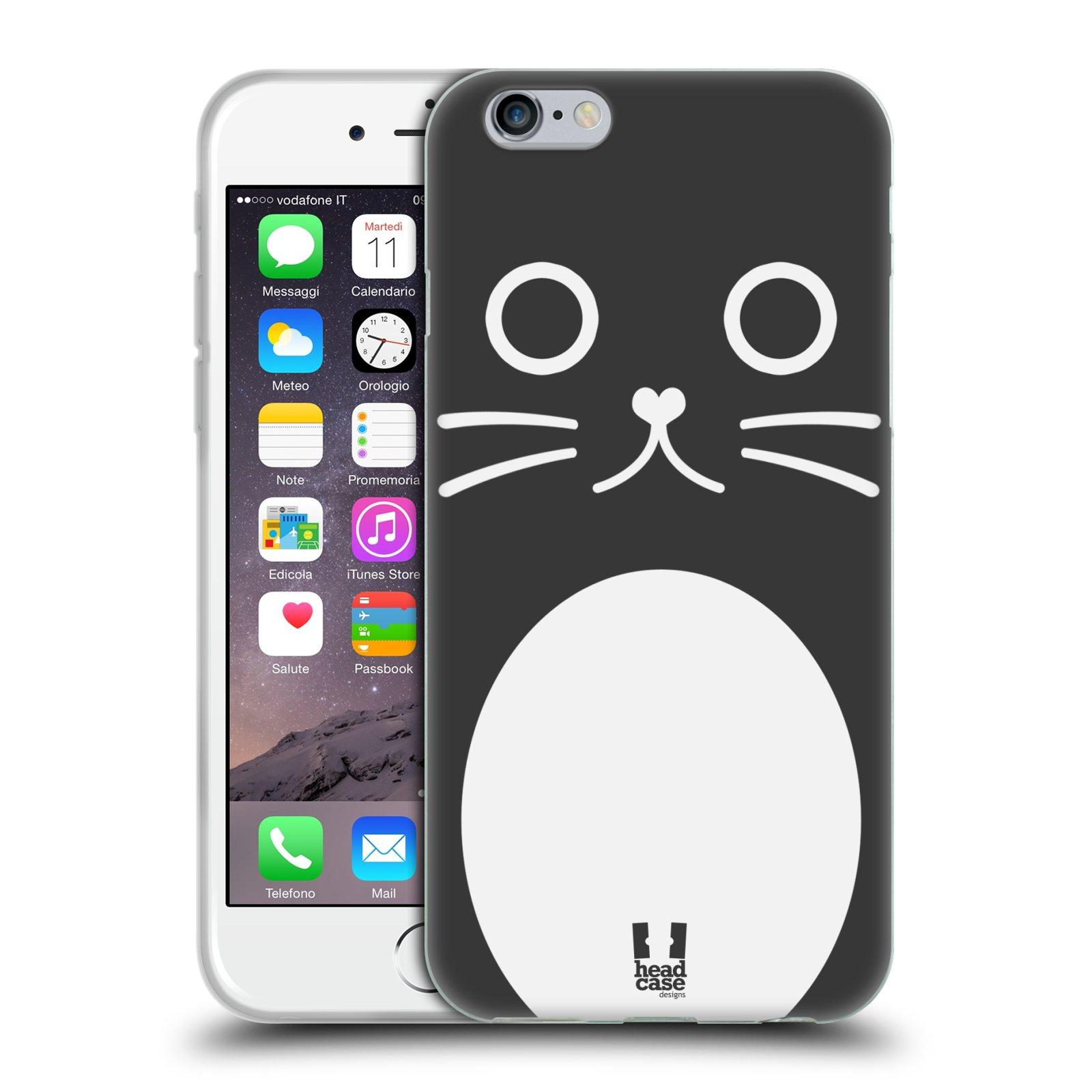 HEAD CASE silikonový obal na mobil Apple Iphone 6/6S vzor Cartoon Karikatura kreslená zvířátka kočka