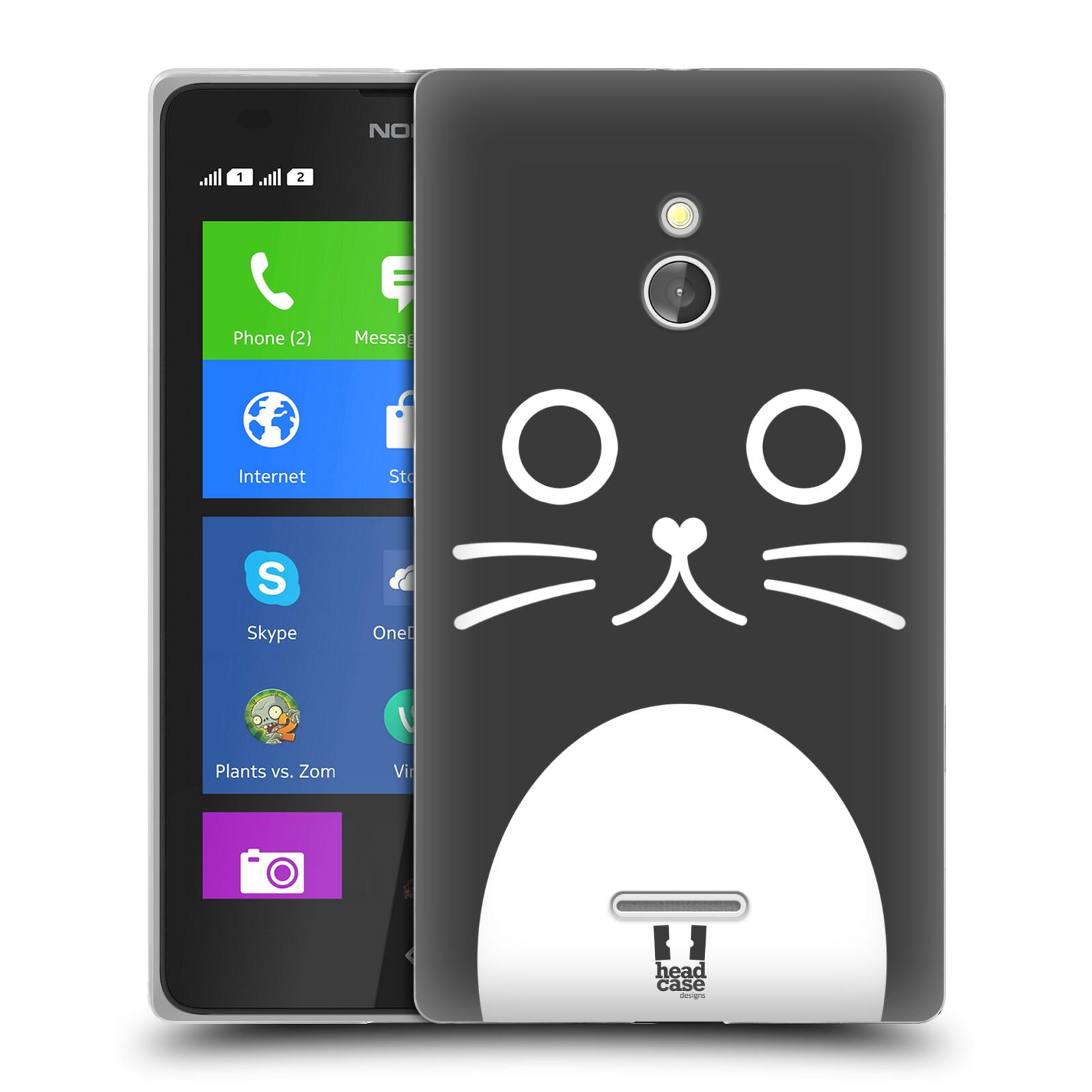 HEAD CASE silikonový obal na mobil NOKIA XL / NOKIA XL DUAL SIM vzor Cartoon Karikatura kreslená zvířátka kočka