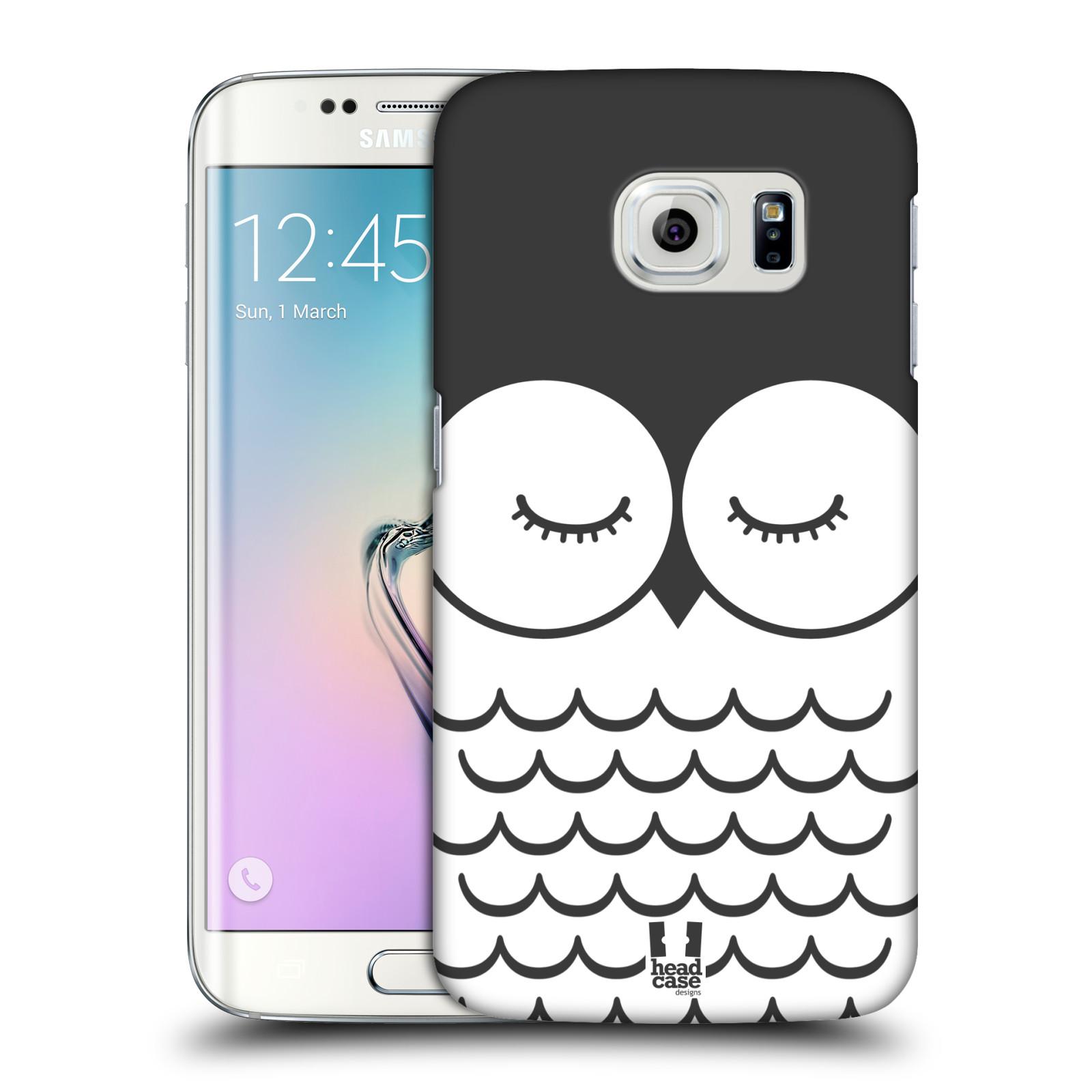 HEAD CASE plastový obal na mobil SAMSUNG Galaxy S6 EDGE (G9250, G925, G925F) vzor Cartoon Karikatura kreslená zvířátka sova