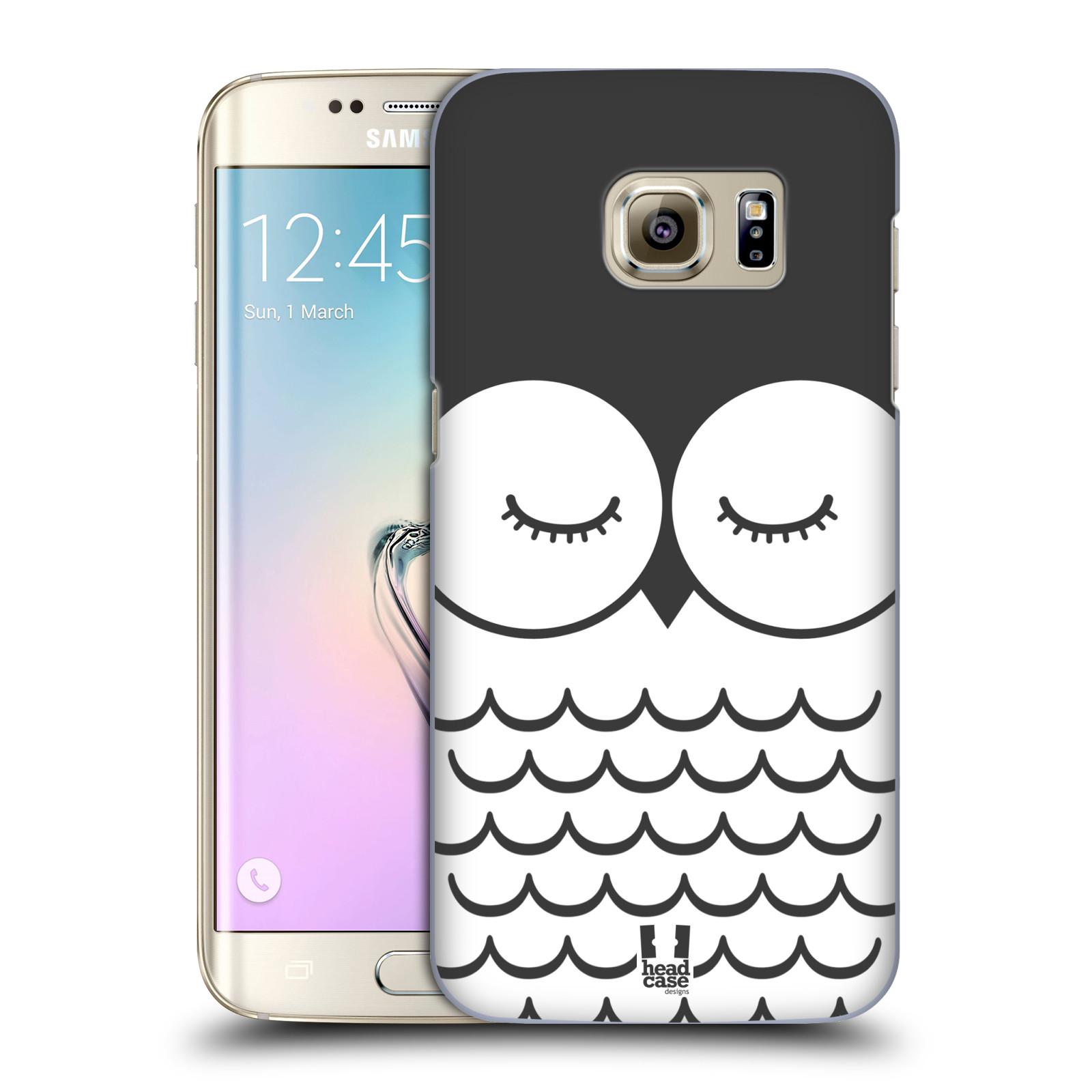 HEAD CASE plastový obal na mobil SAMSUNG GALAXY S7 EDGE vzor Cartoon Karikatura kreslená zvířátka sova