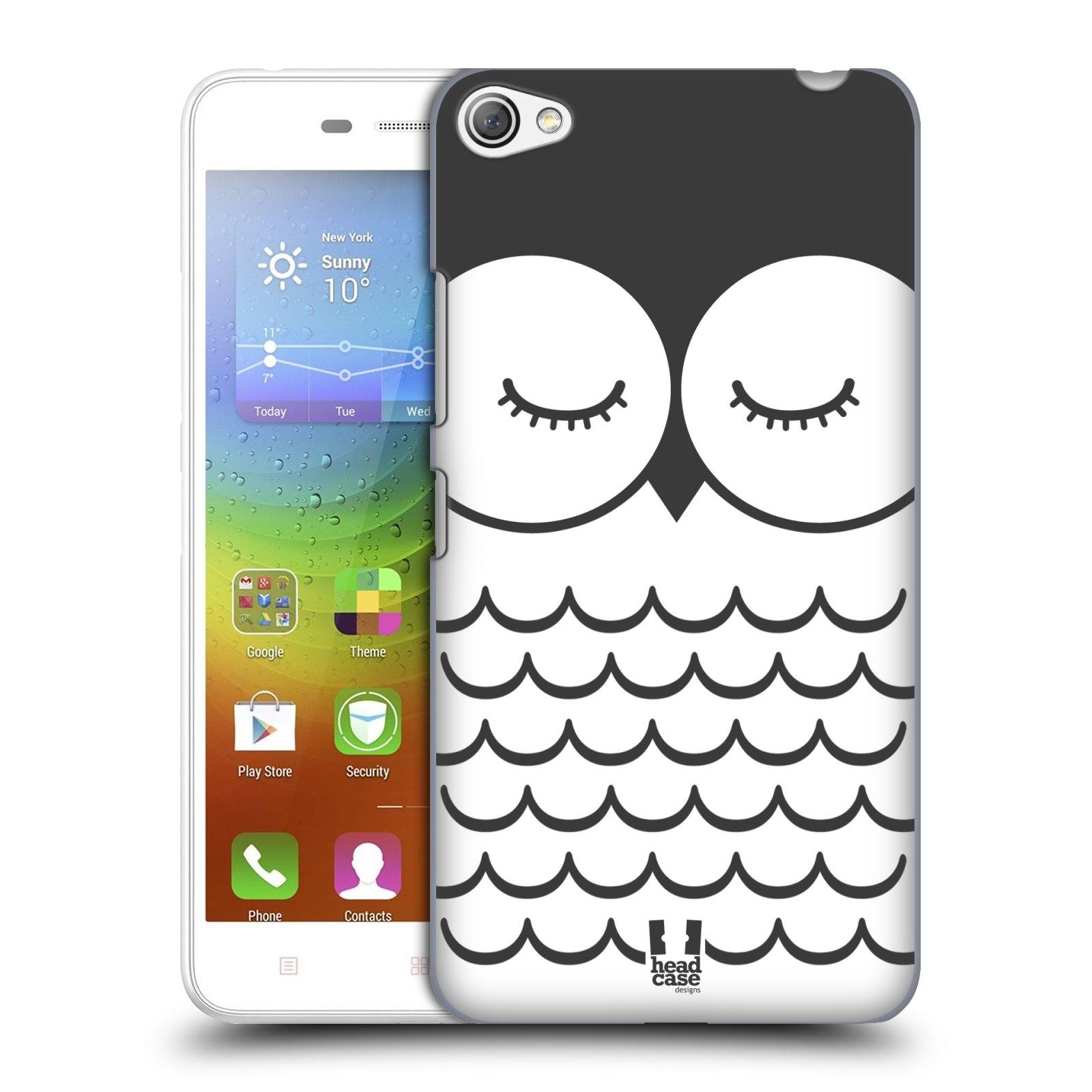 HEAD CASE pevný plastový obal na mobil LENOVO S60 / LENOVO S60 DUAL SIM vzor Cartoon Karikatura kreslená zvířátka sova