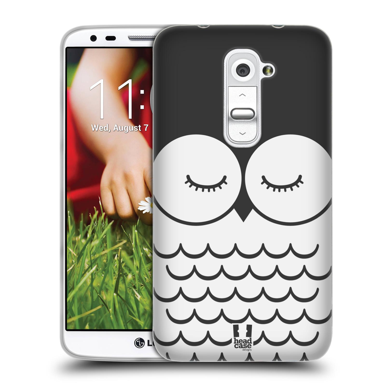 HEAD CASE silikonový obal na mobil LG G2 vzor Cartoon Karikatura kreslená zvířátka sova