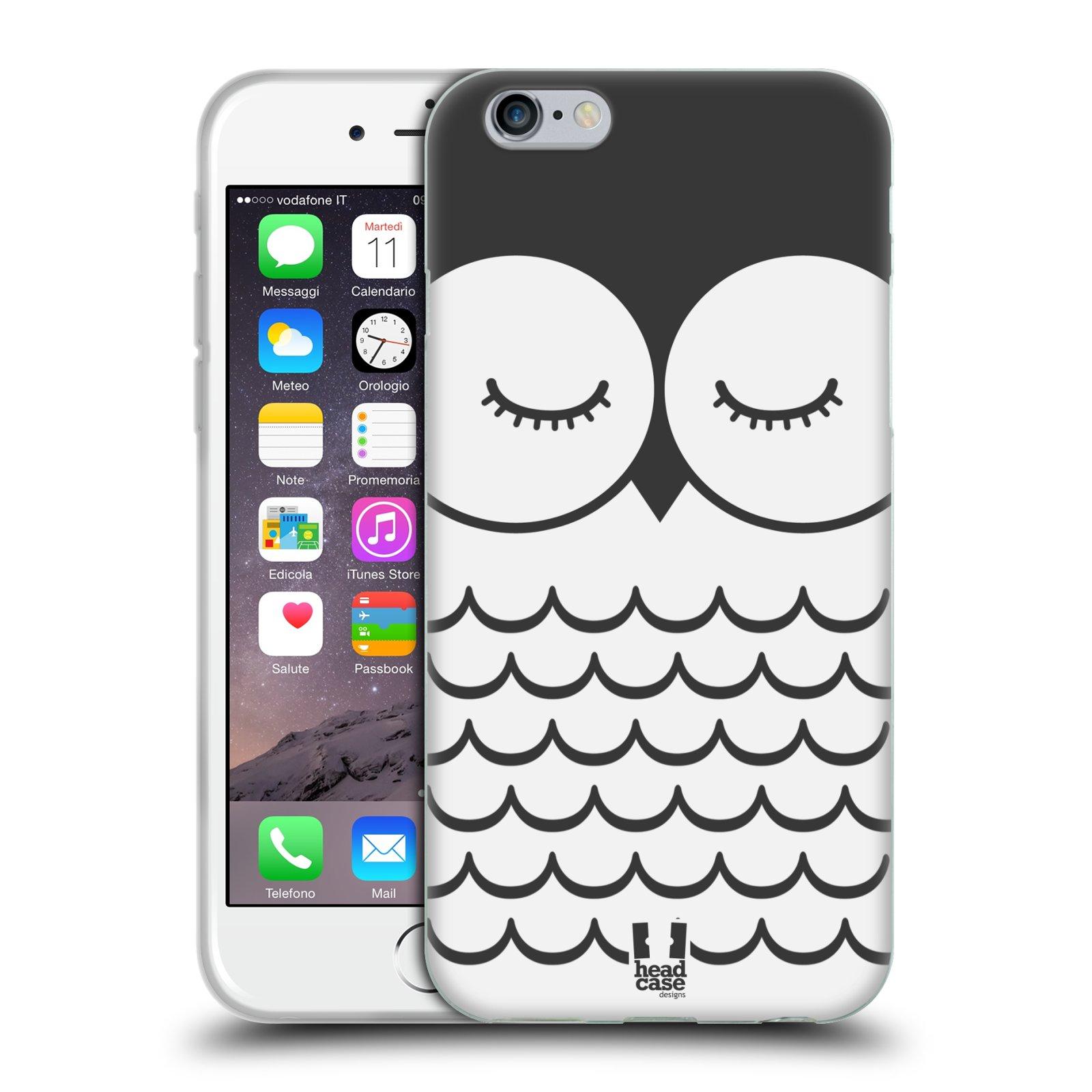 HEAD CASE silikonový obal na mobil Apple Iphone 6/6S vzor Cartoon Karikatura kreslená zvířátka sova