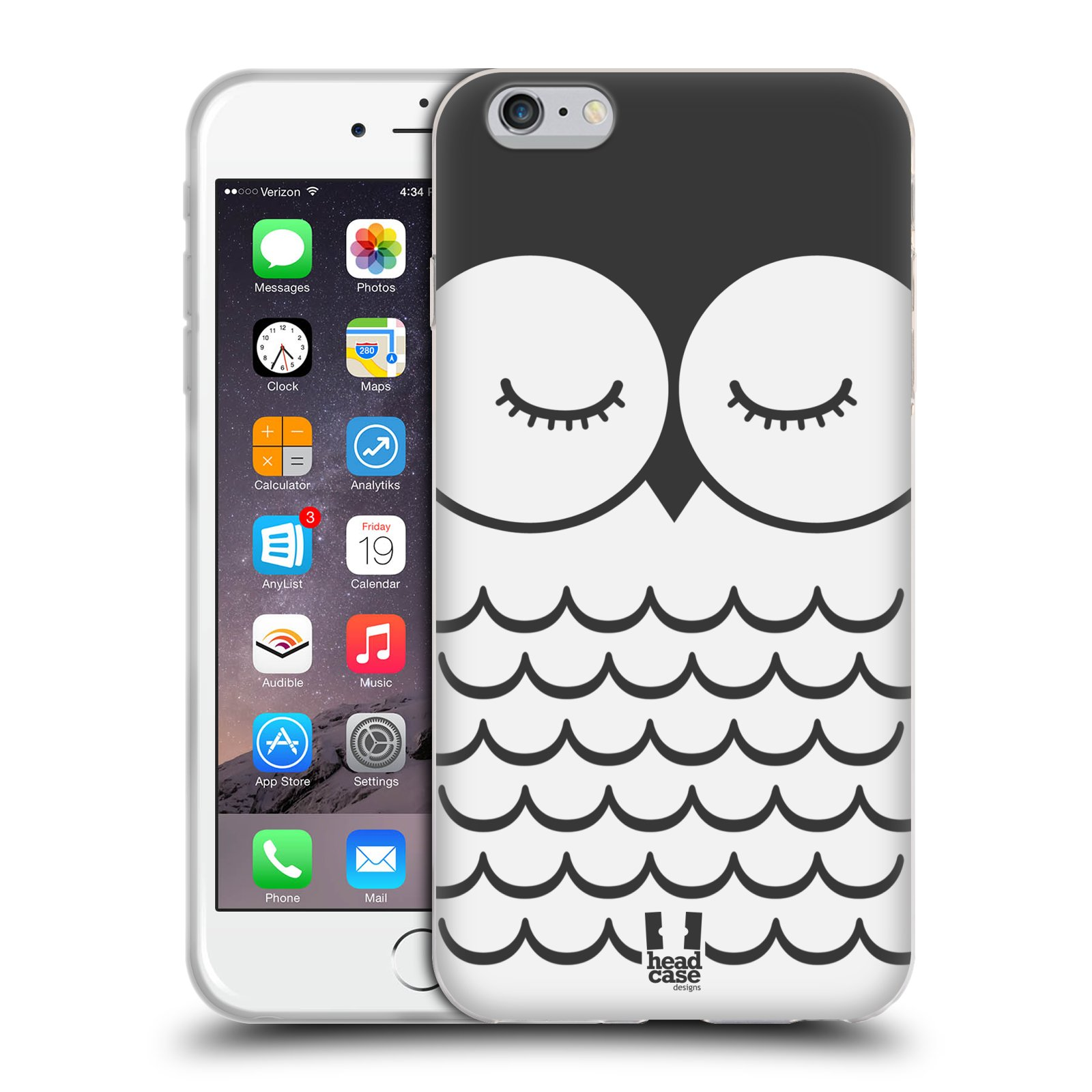 HEAD CASE silikonový obal na mobil Apple Iphone 6 PLUS/ 6S PLUS vzor Cartoon Karikatura kreslená zvířátka sova