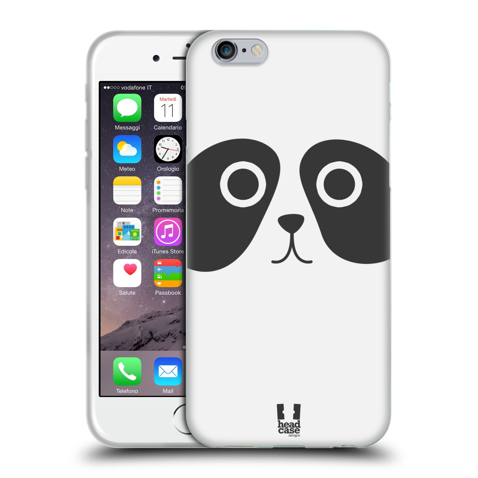 HEAD CASE silikonový obal na mobil Apple Iphone 6/6S vzor Cartoon Karikatura kreslená zvířátka panda