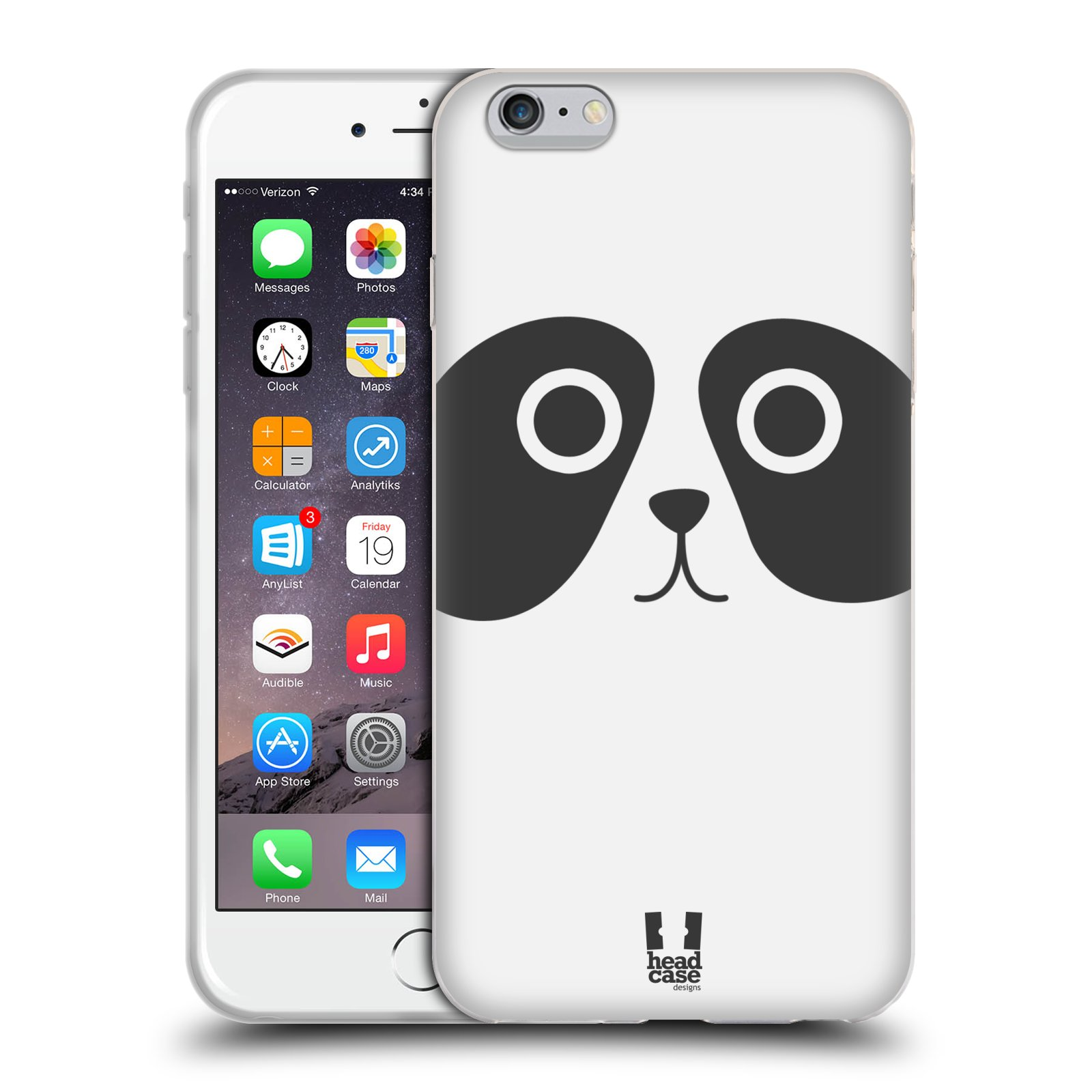 HEAD CASE silikonový obal na mobil Apple Iphone 6 PLUS/ 6S PLUS vzor Cartoon Karikatura kreslená zvířátka panda