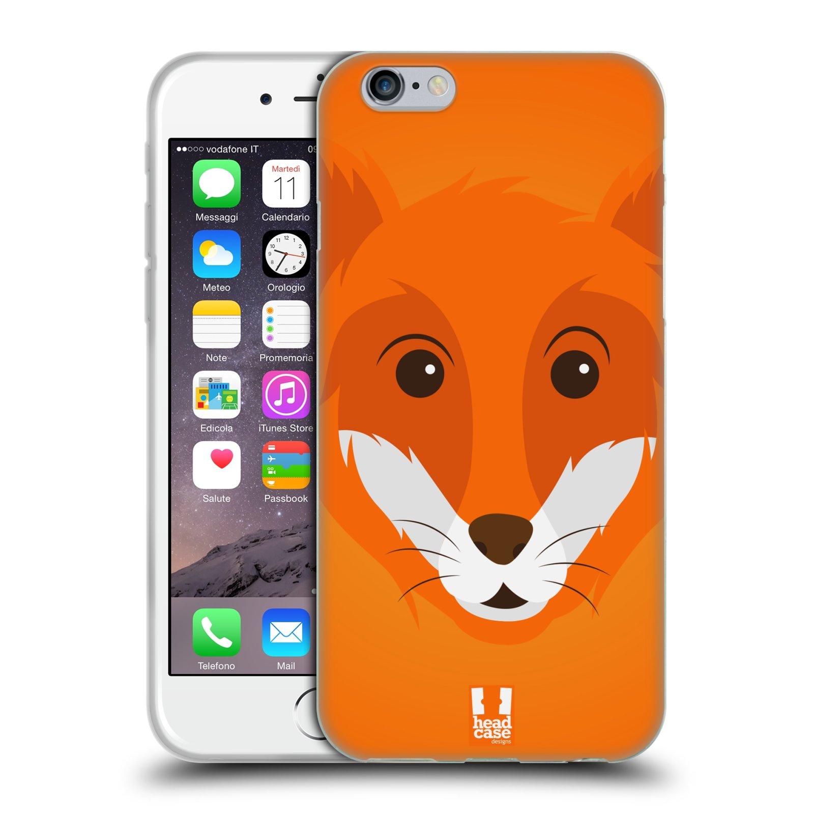 HEAD CASE silikonový obal na mobil Apple Iphone 6/6S vzor Cartoon Karikatura barevná kreslená zvířátka liška