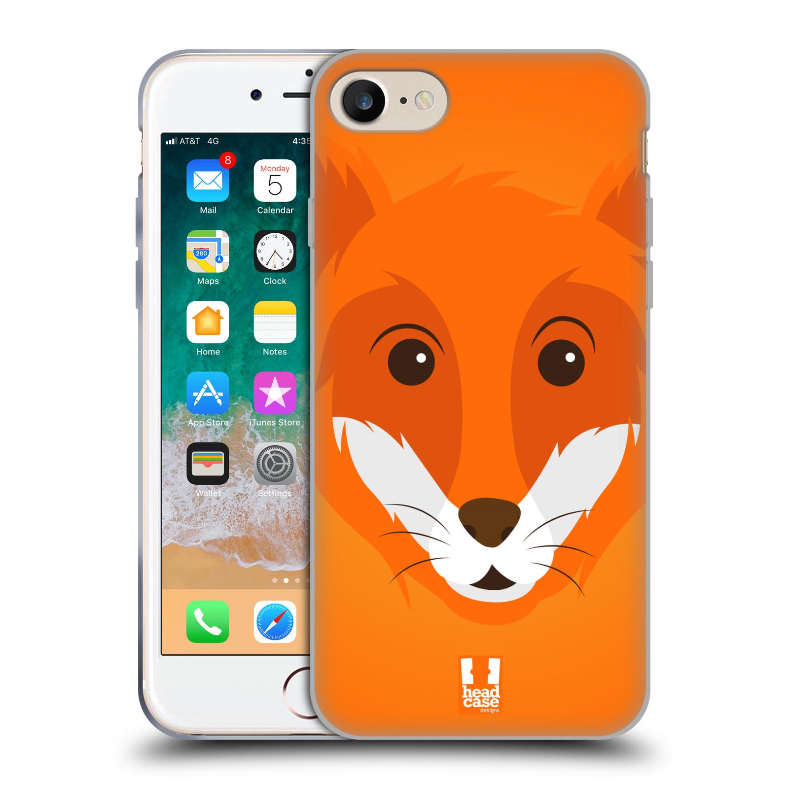 HEAD CASE silikonový obal na mobil Apple Iphone 7 vzor Cartoon Karikatura barevná kreslená zvířátka liška