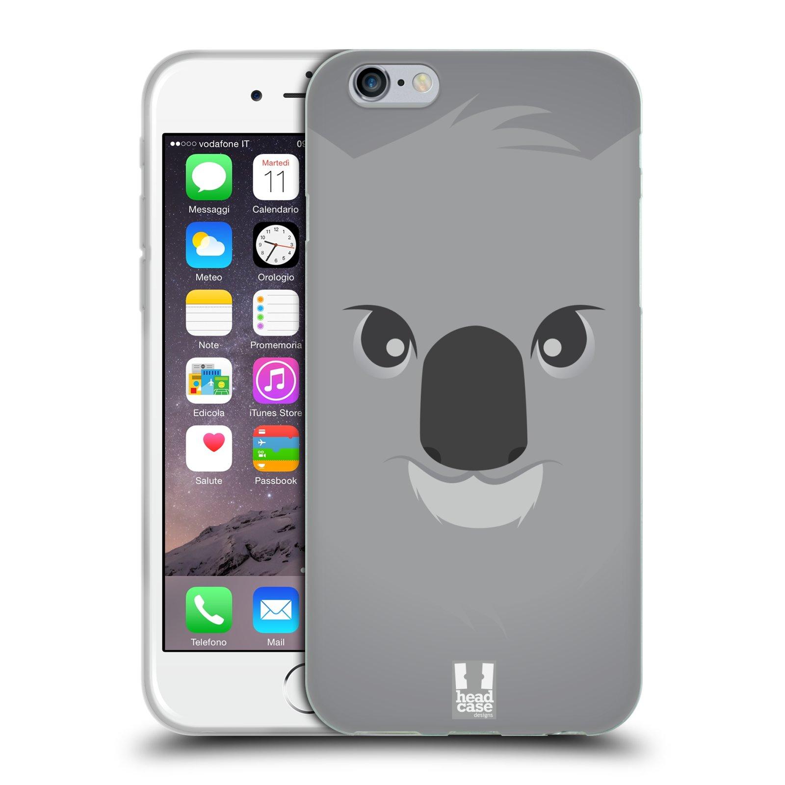 HEAD CASE silikonový obal na mobil Apple Iphone 6/6S vzor Cartoon Karikatura barevná kreslená zvířátka medvídek koala