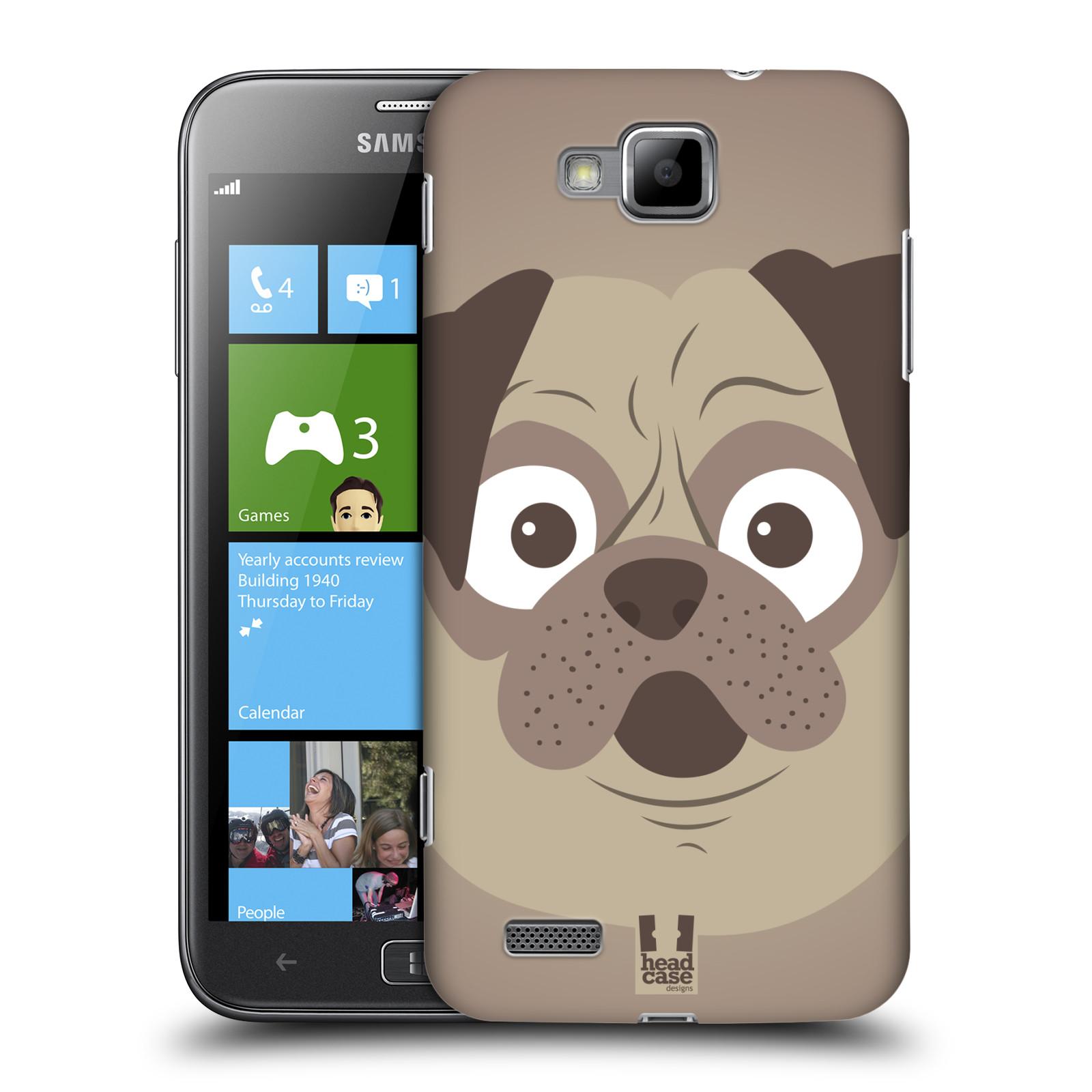 HEAD CASE plastový obal na mobil Samsung ATIV S vzor Cartoon Karikatura barevná kreslená zvířátka pes mopsík