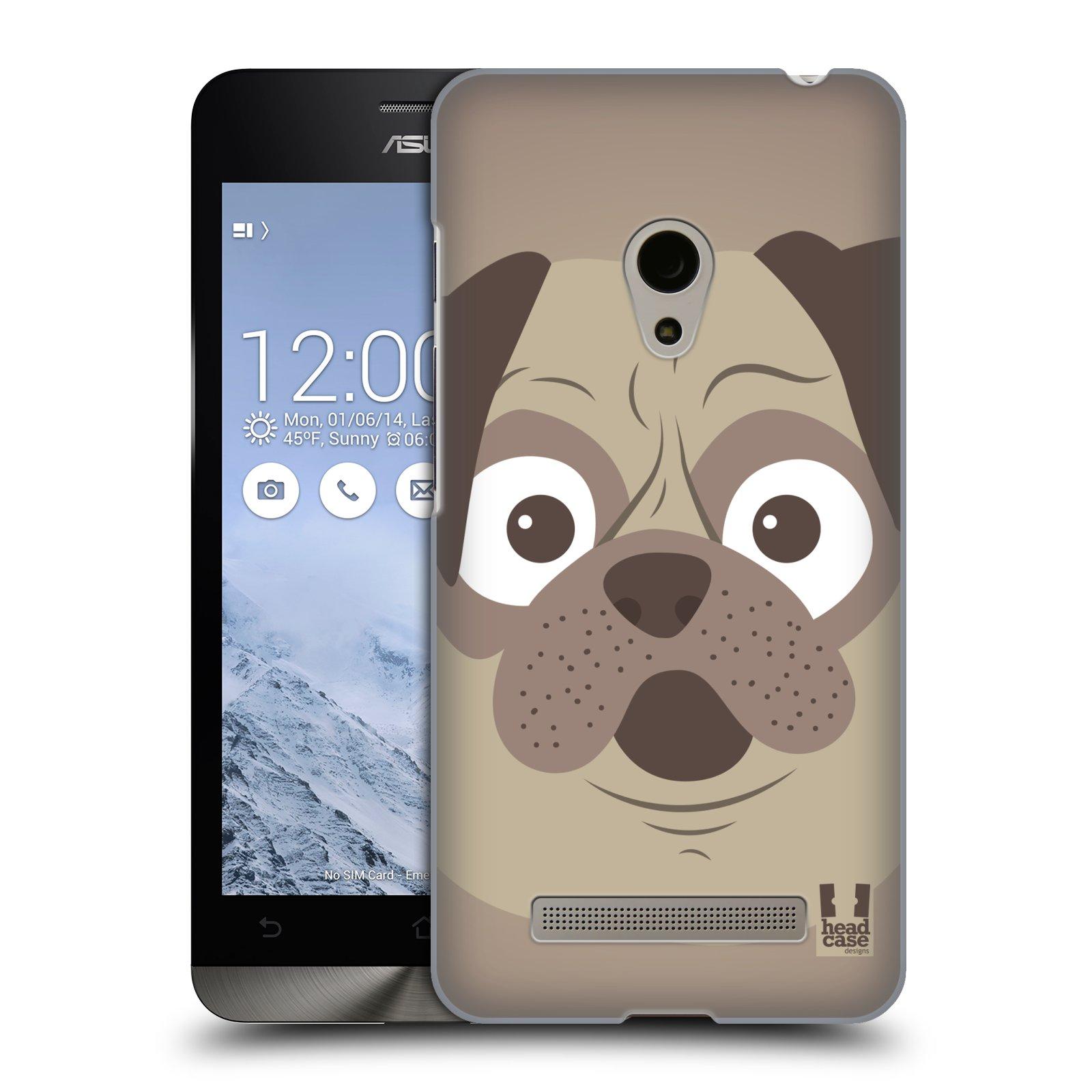 HEAD CASE plastový obal na mobil Asus Zenfone 5 vzor Cartoon Karikatura barevná kreslená zvířátka pes mopsík