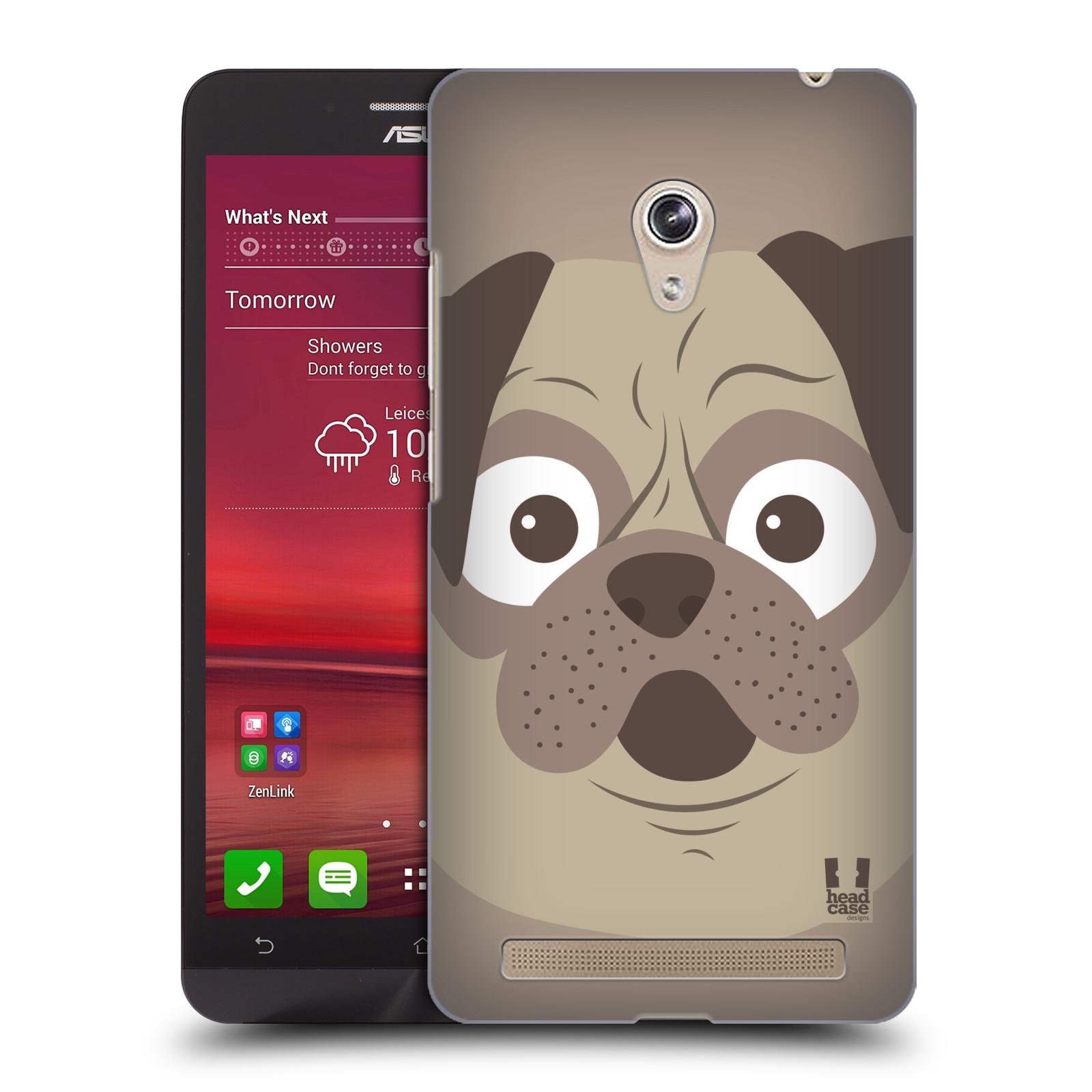 HEAD CASE plastový obal na mobil Asus Zenfone 6 vzor Cartoon Karikatura barevná kreslená zvířátka pes mopsík
