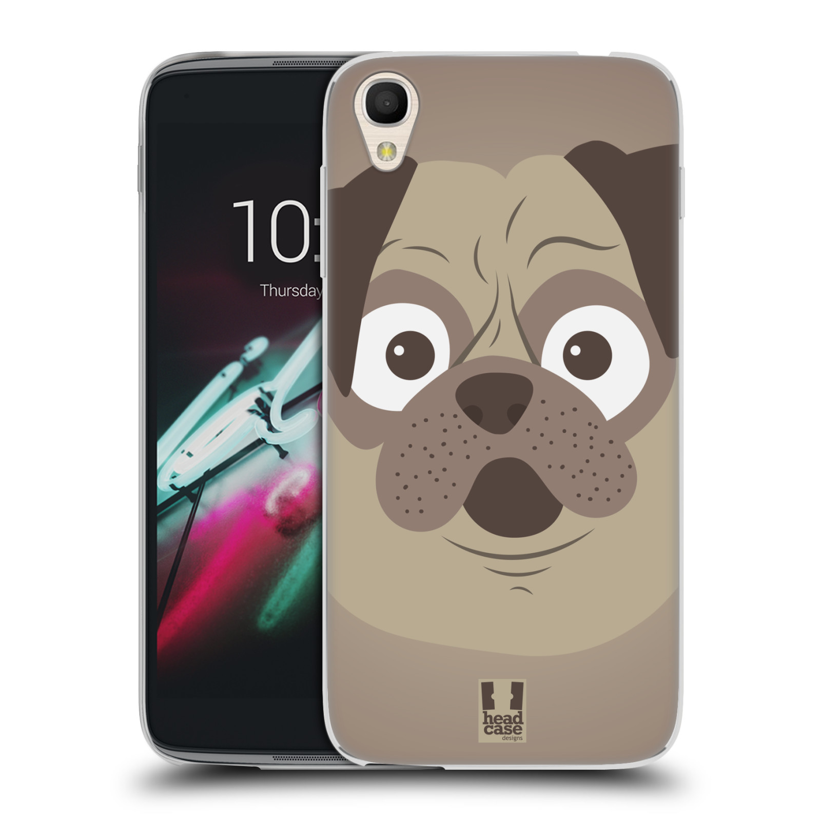 HEAD CASE silikonový obal na mobil Alcatel Idol 3 OT-6039Y (4.7) vzor Cartoon Karikatura barevná kreslená zvířátka pes mopsík