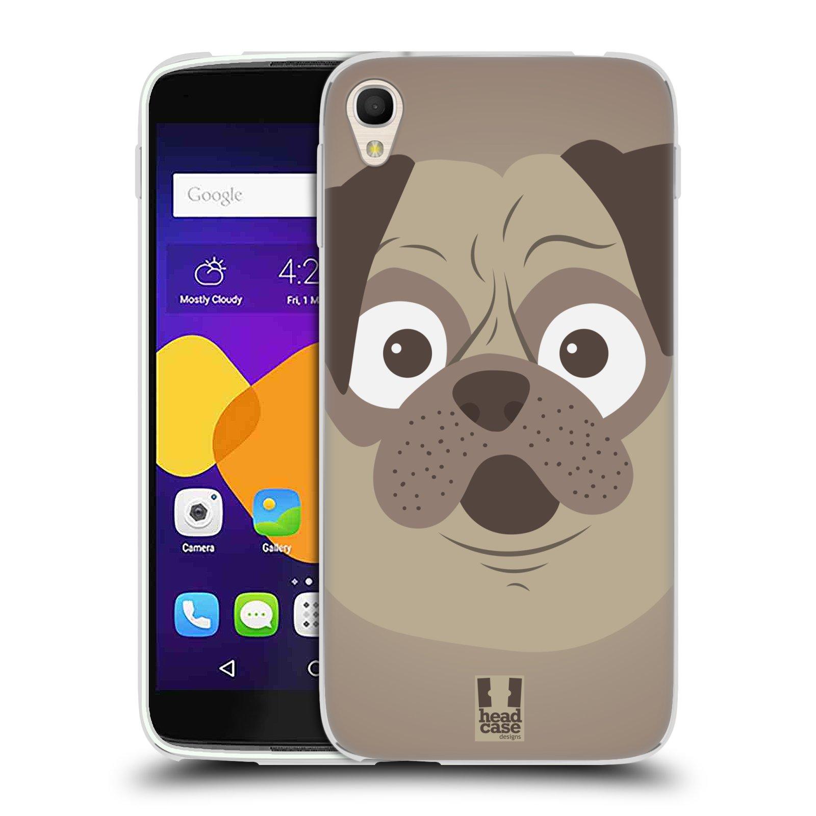 HEAD CASE silikonový obal na mobil Alcatel Idol 3 OT-6045Y (5.5) vzor Cartoon Karikatura barevná kreslená zvířátka pes mopsík