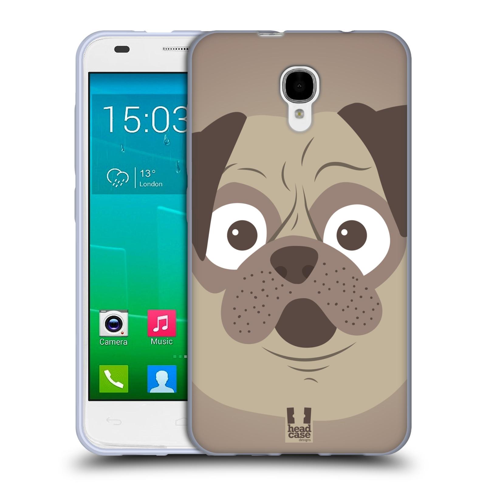 HEAD CASE silikonový obal na mobil Alcatel Idol 2 S OT-6050 vzor Cartoon Karikatura barevná kreslená zvířátka pes mopsík
