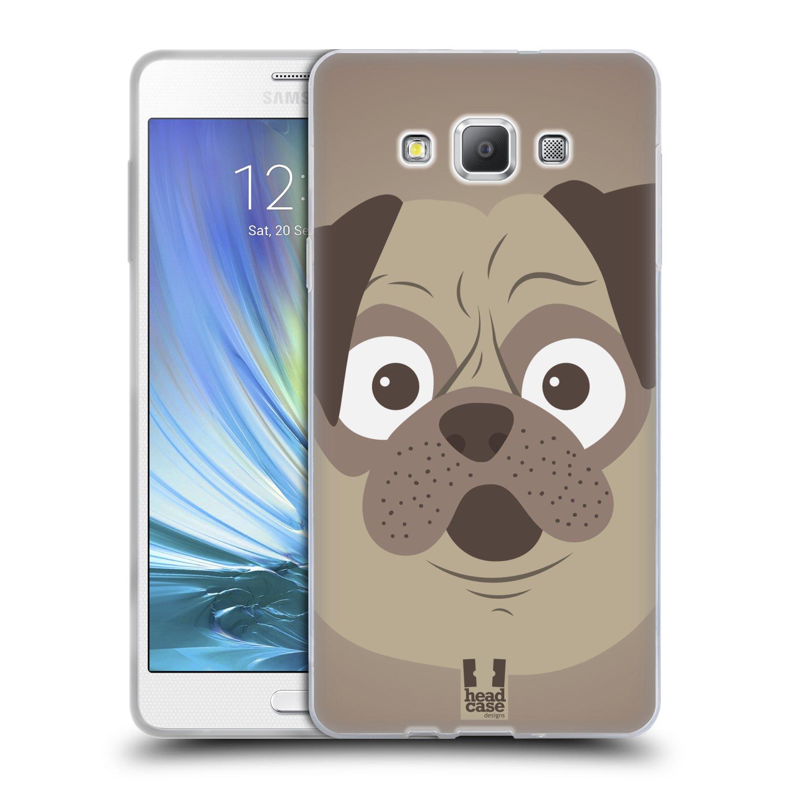 HEAD CASE silikonový obal na mobil Samsung Galaxy A7 vzor Cartoon Karikatura barevná kreslená zvířátka pes mopsík