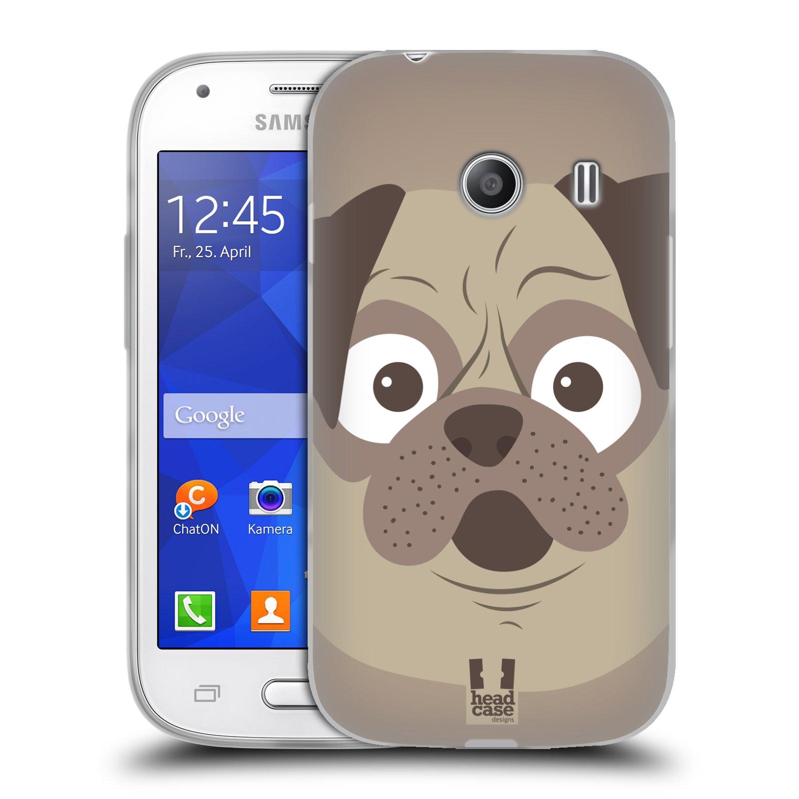 HEAD CASE silikonový obal na mobil Samsung Galaxy Ace Style (G310) vzor Cartoon Karikatura barevná kreslená zvířátka pes mopsík