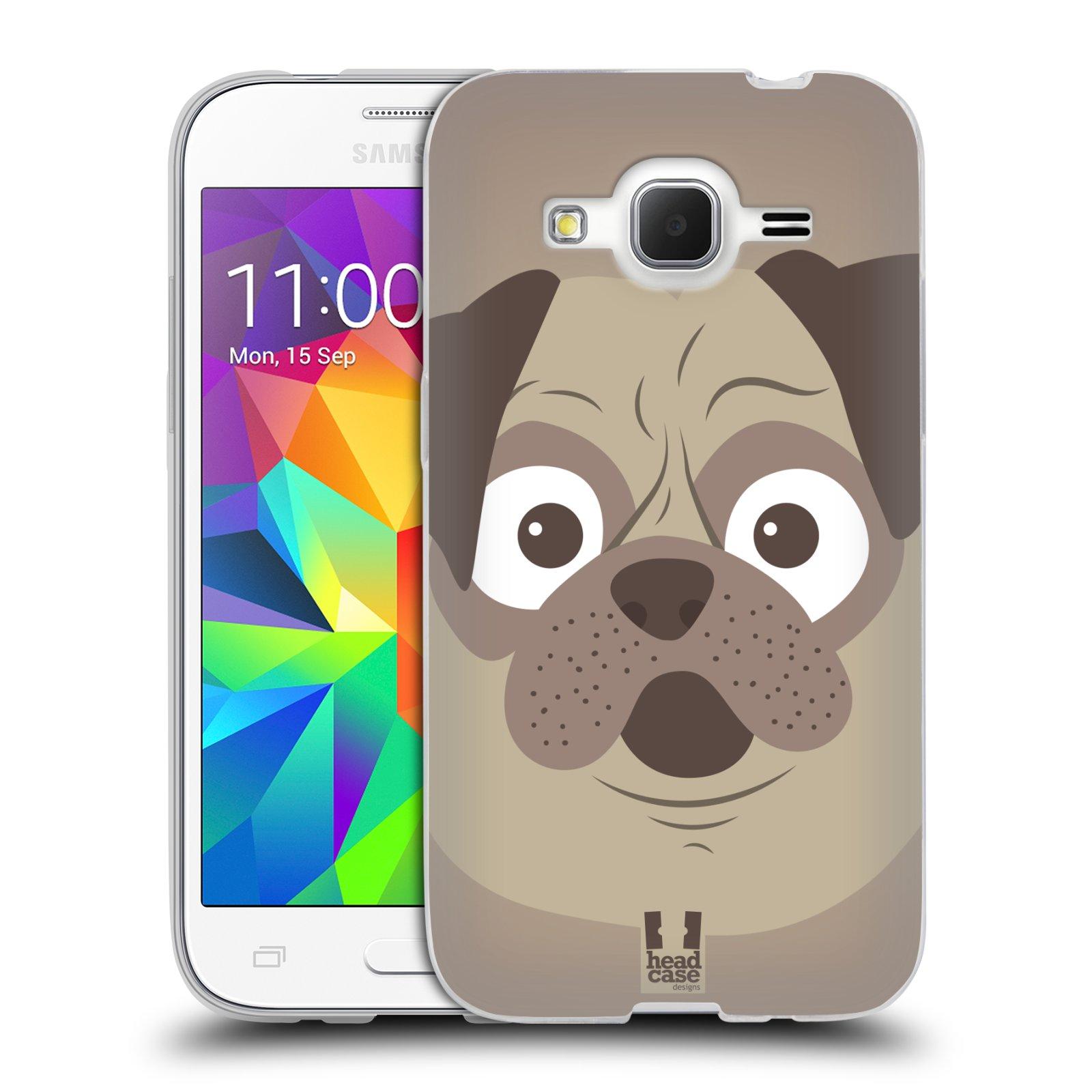 HEAD CASE silikonový obal na mobil Samsung Galaxy Core Prime (G360) vzor Cartoon Karikatura barevná kreslená zvířátka pes mopsík