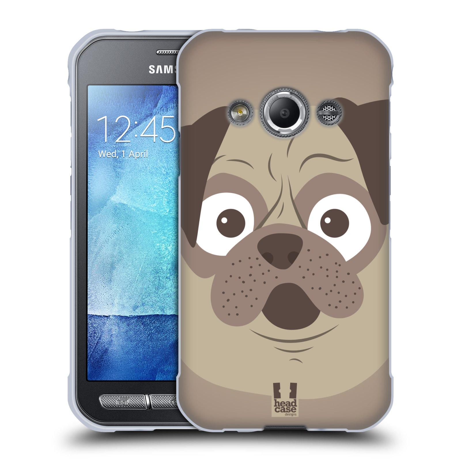 HEAD CASE silikonový obal na mobil Samsung Galaxy Xcover 3 vzor Cartoon Karikatura barevná kreslená zvířátka pes mopsík