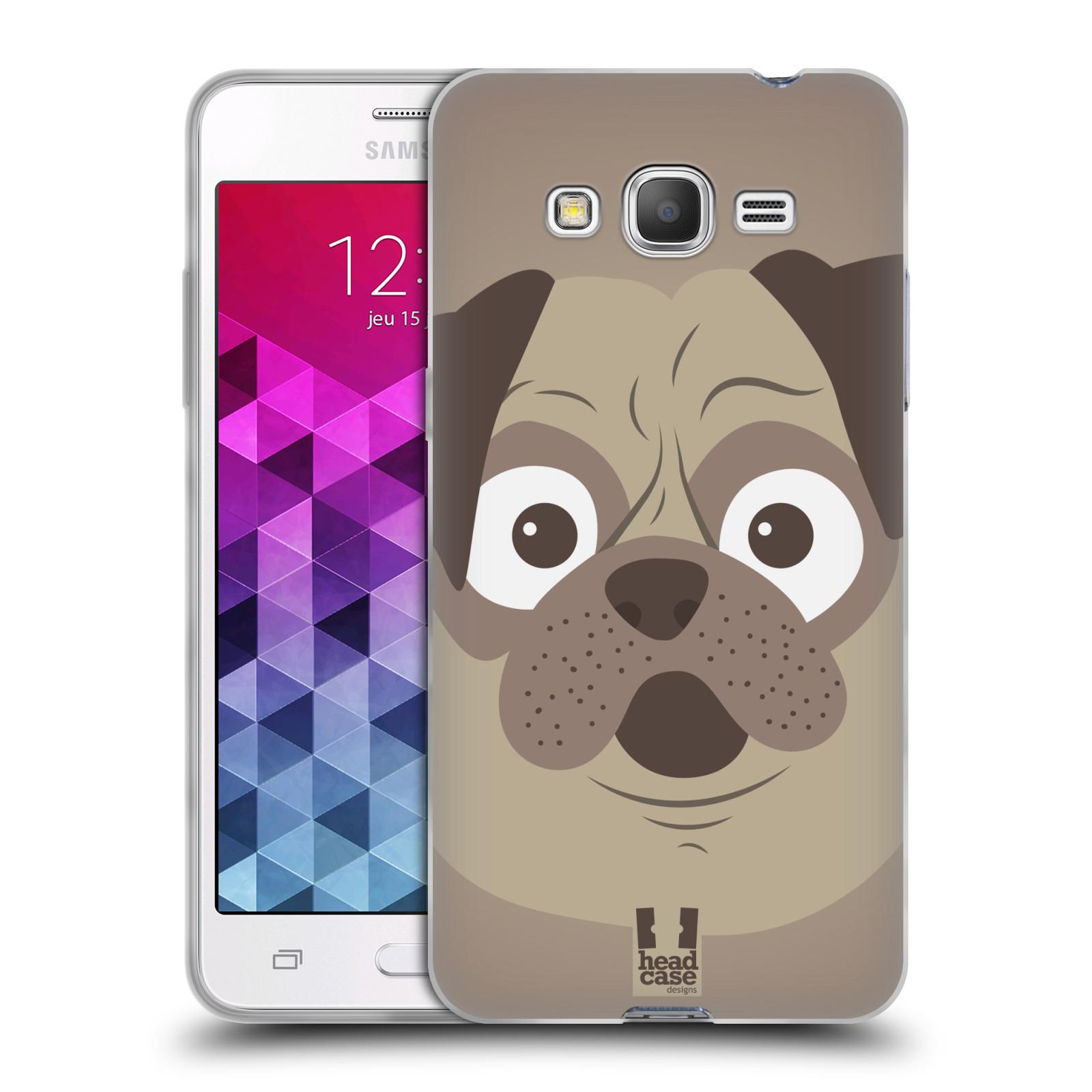 HEAD CASE silikonový obal na mobil Samsung Galaxy GRAND PRIME vzor Cartoon Karikatura barevná kreslená zvířátka pes mopsík