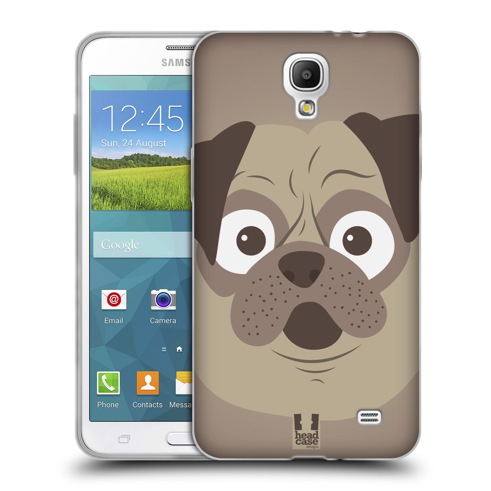 HEAD CASE silikonový obal na mobil Samsung Galaxy Mega 2 vzor Cartoon Karikatura barevná kreslená zvířátka pes mopsík