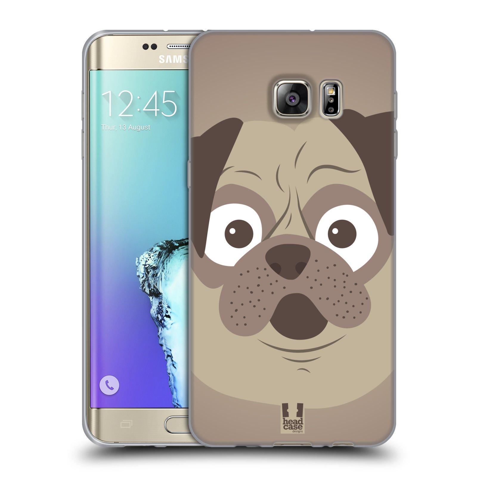HEAD CASE silikonový obal na mobil Samsung Galaxy S6 EDGE PLUS vzor Cartoon Karikatura barevná kreslená zvířátka pes mopsík