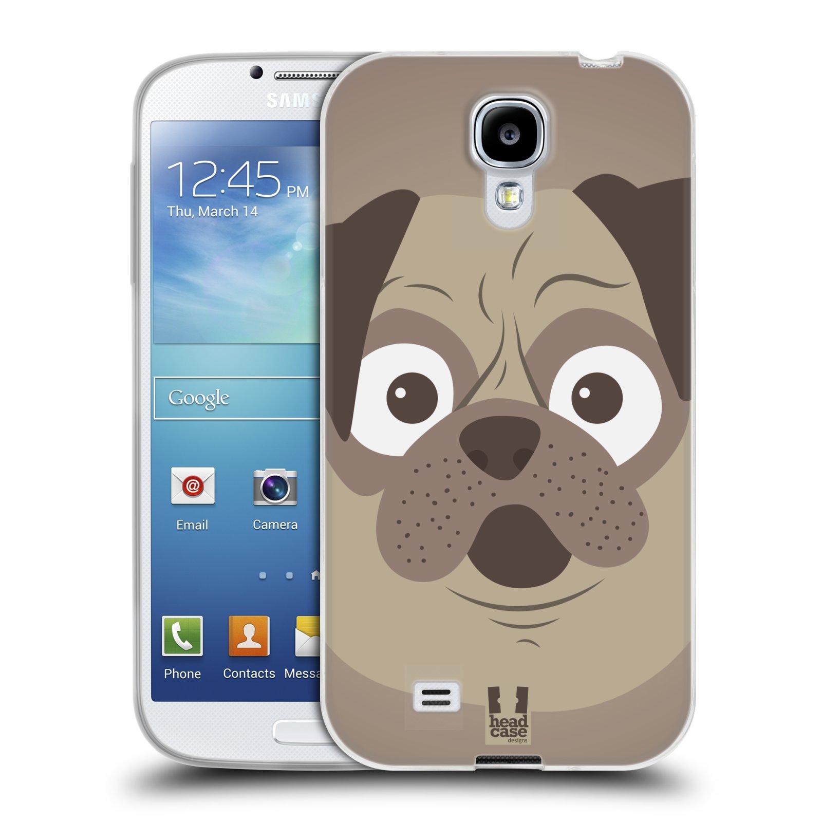 HEAD CASE silikonový obal na mobil Samsung Galaxy S4 i9500 vzor Cartoon Karikatura barevná kreslená zvířátka pes mopsík