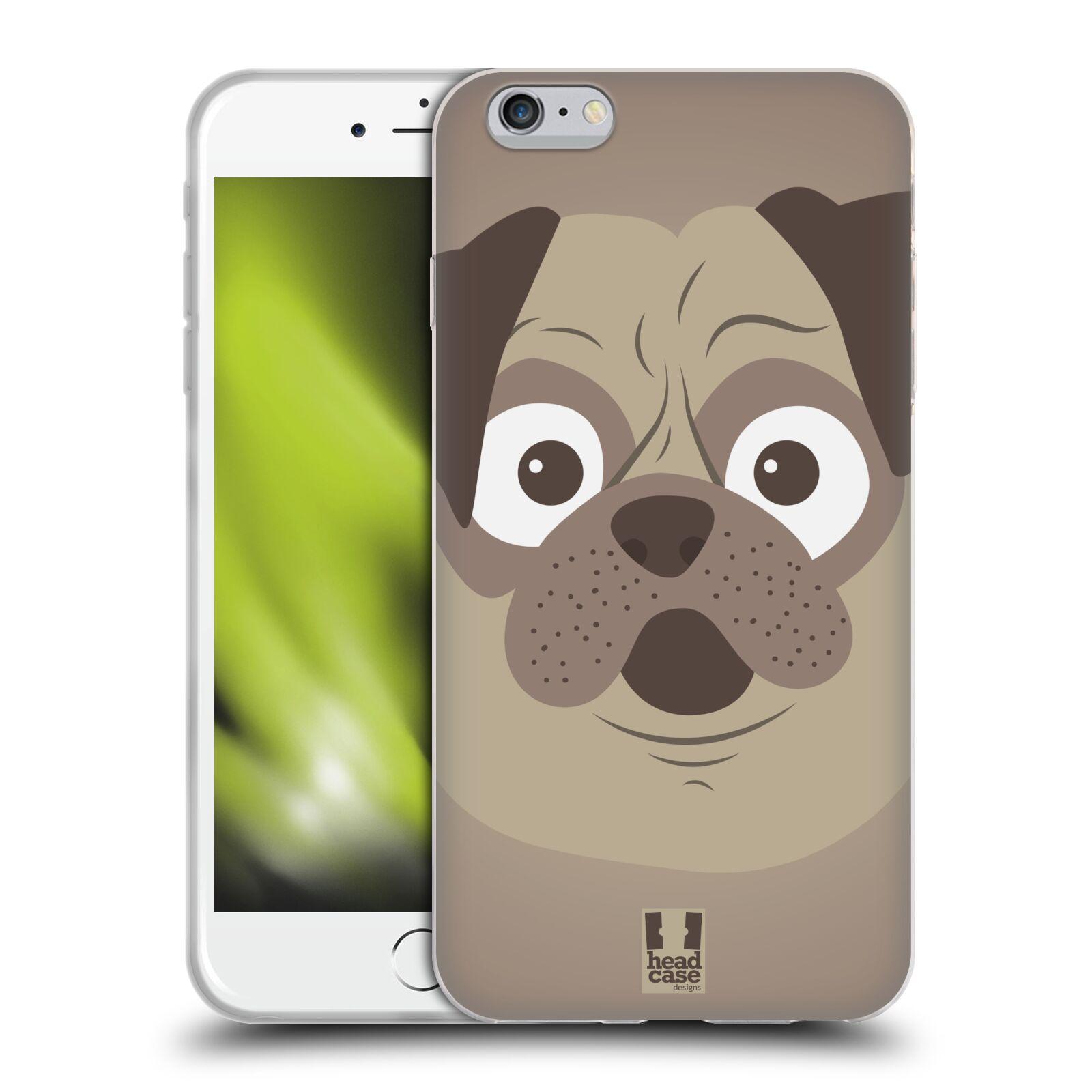 HEAD CASE silikonový obal na mobil Apple Iphone 6 PLUS/ 6S PLUS vzor Cartoon Karikatura barevná kreslená zvířátka pes mopsík