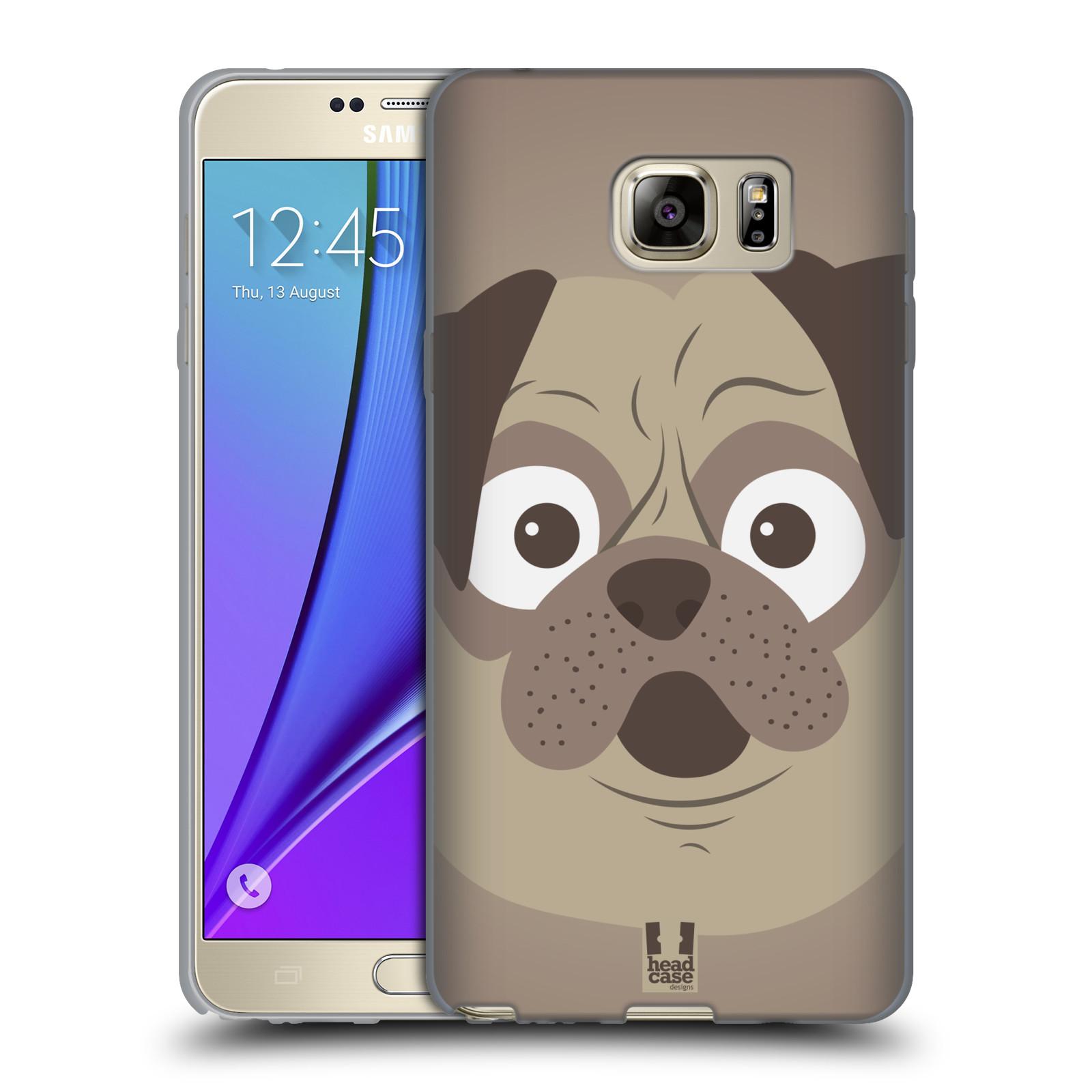 HEAD CASE silikonový obal na mobil Samsung Galaxy Note 5 (N920) vzor Cartoon Karikatura barevná kreslená zvířátka pes mopsík