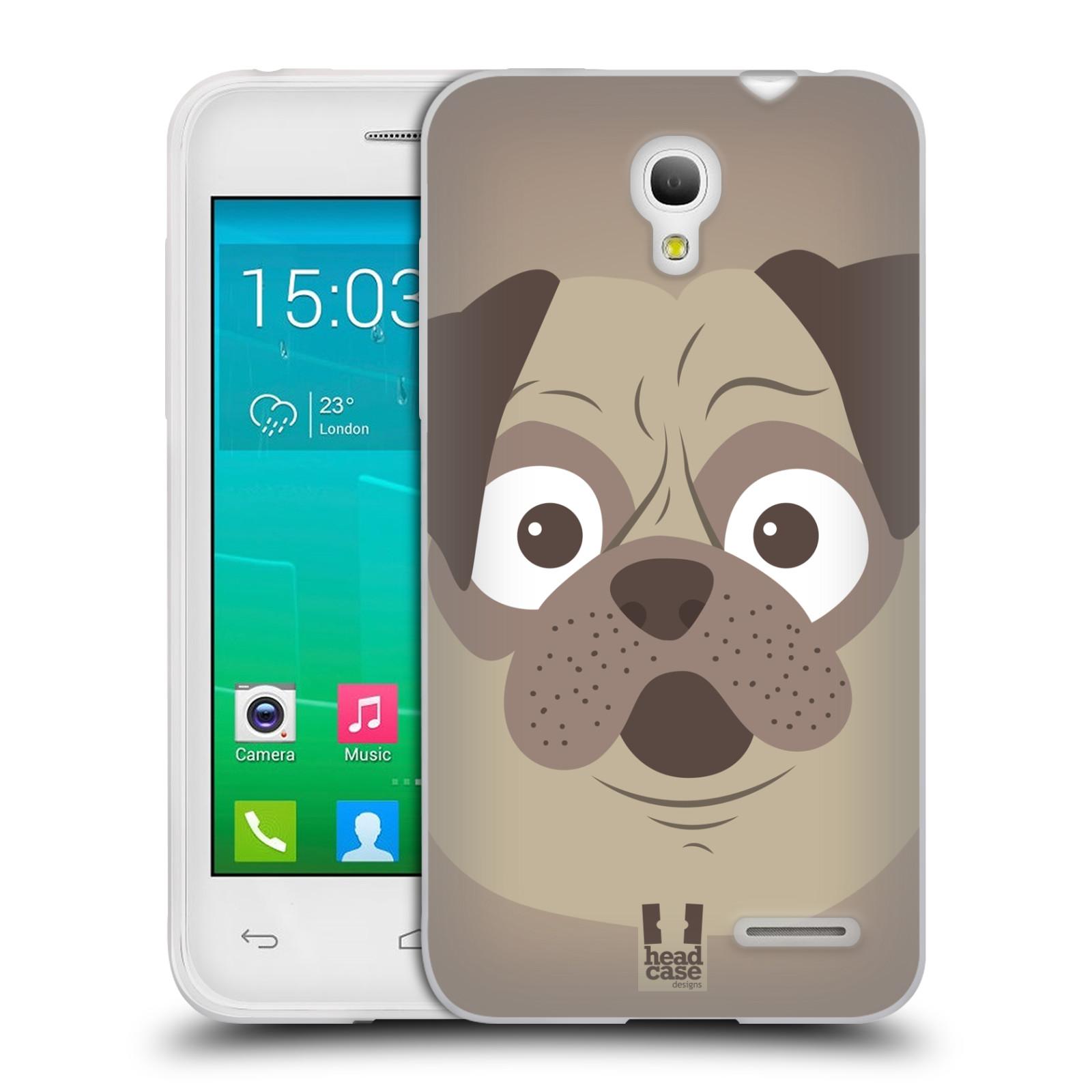 HEAD CASE silikonový obal na mobil Alcatel POP S3 OT-5050Y vzor Cartoon Karikatura barevná kreslená zvířátka pes mopsík