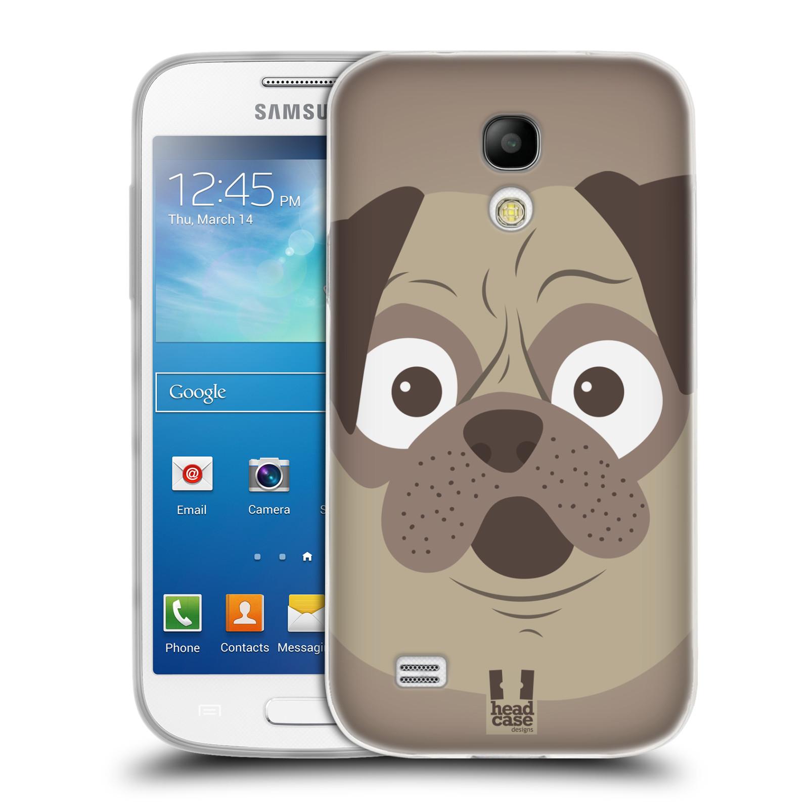 HEAD CASE silikonový obal na mobil Samsung Galaxy S4 MINI vzor Cartoon Karikatura barevná kreslená zvířátka pes mopsík